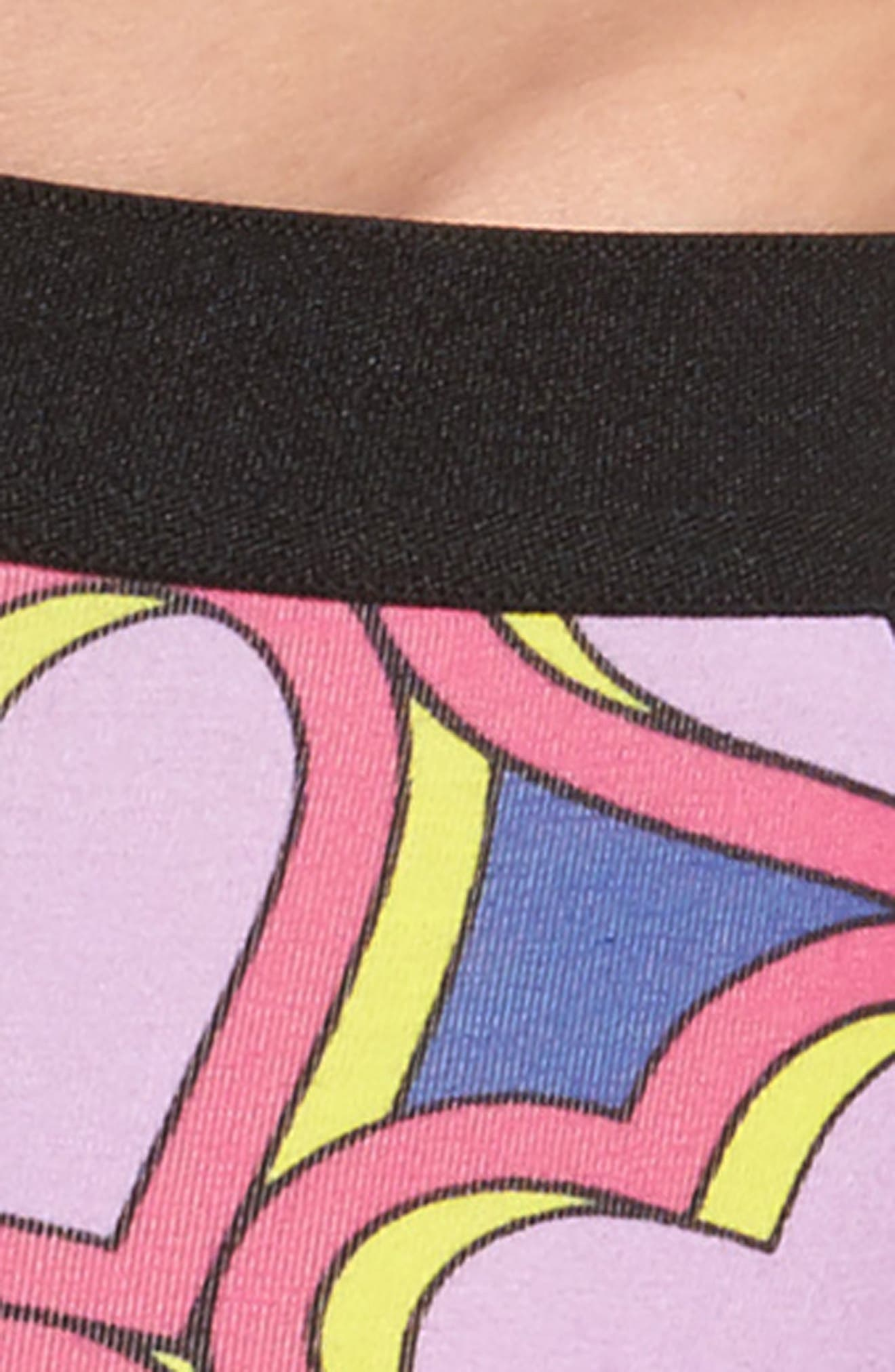 Pop Art Hearts Stretch Cotton Trunks,                             Alternate thumbnail 4, color,                             Pink