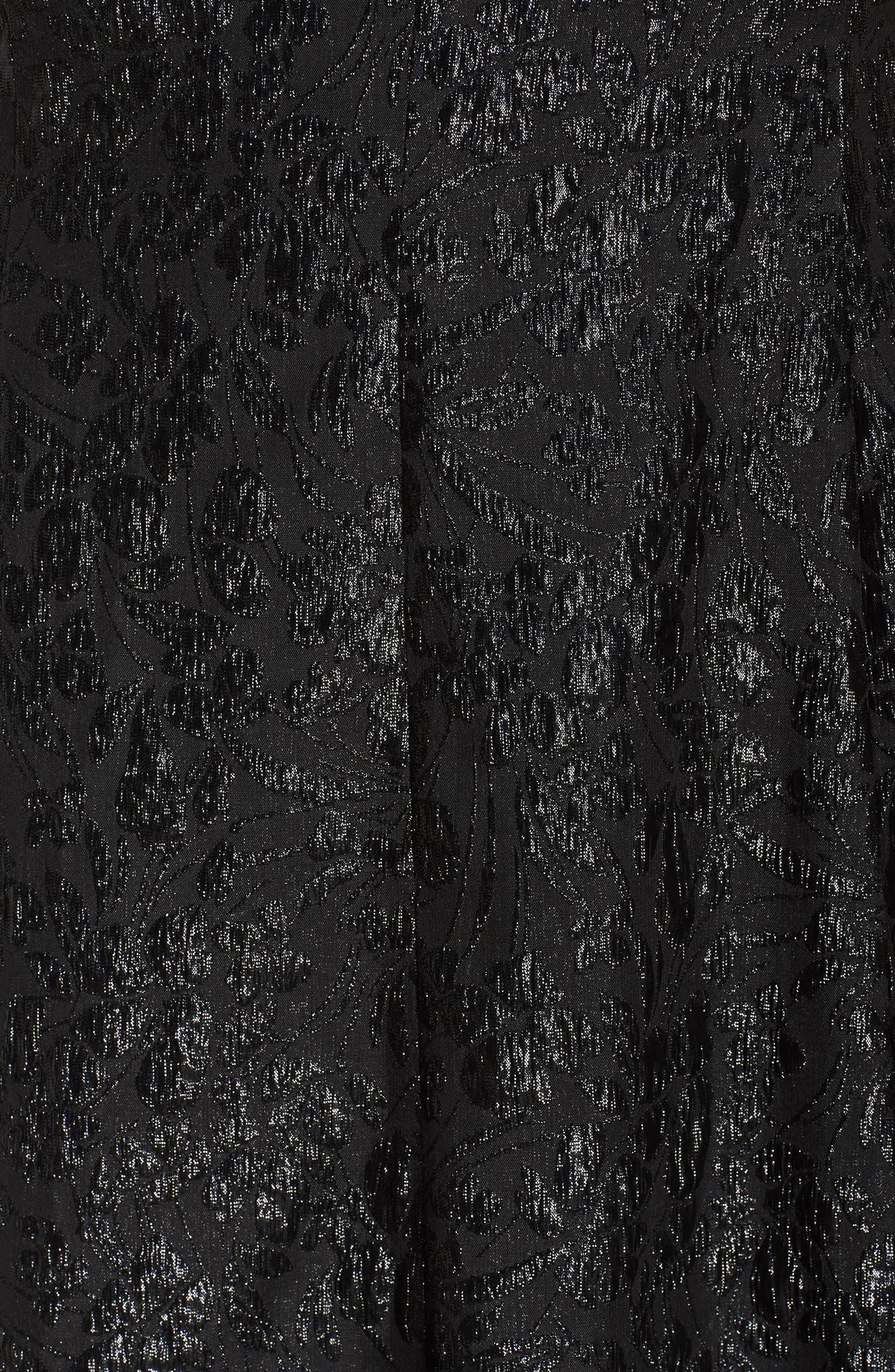 Alternate Image 5  - London Times Beaded Neck Fit & Flare Dress (Plus Size)