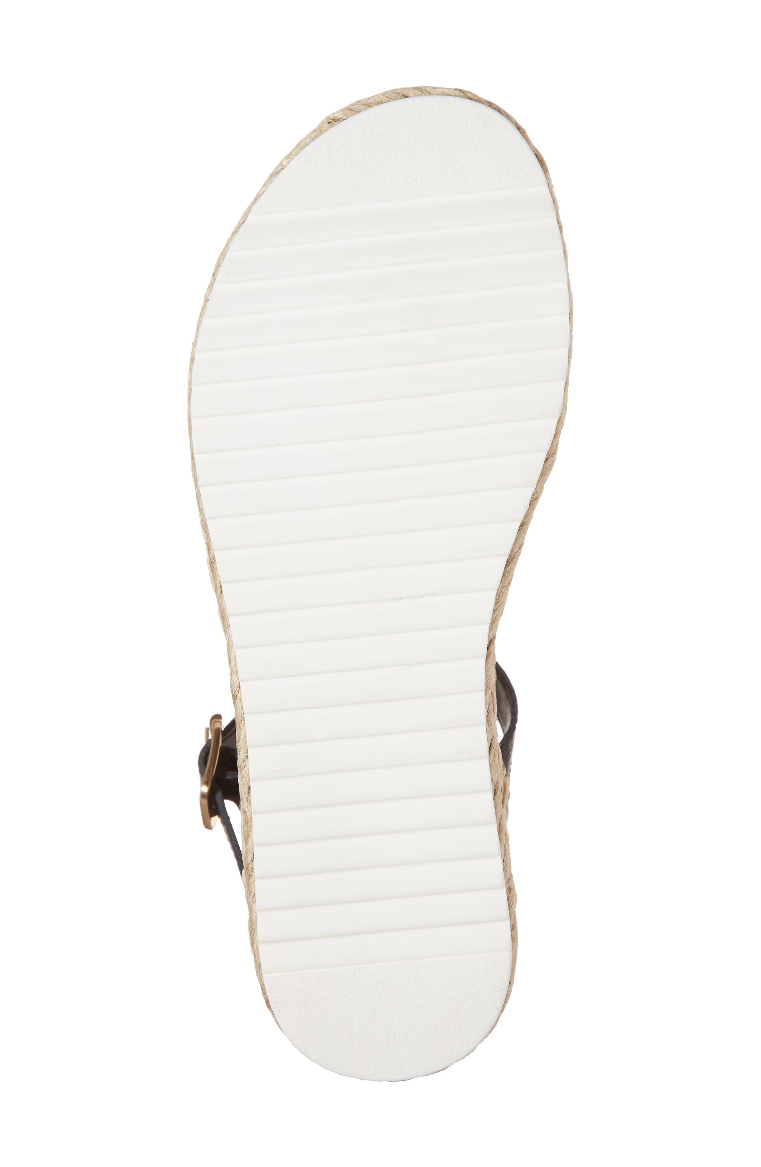 Chiara Platform Espadrille Sandal,                             Alternate thumbnail 6, color,                             Black Leather