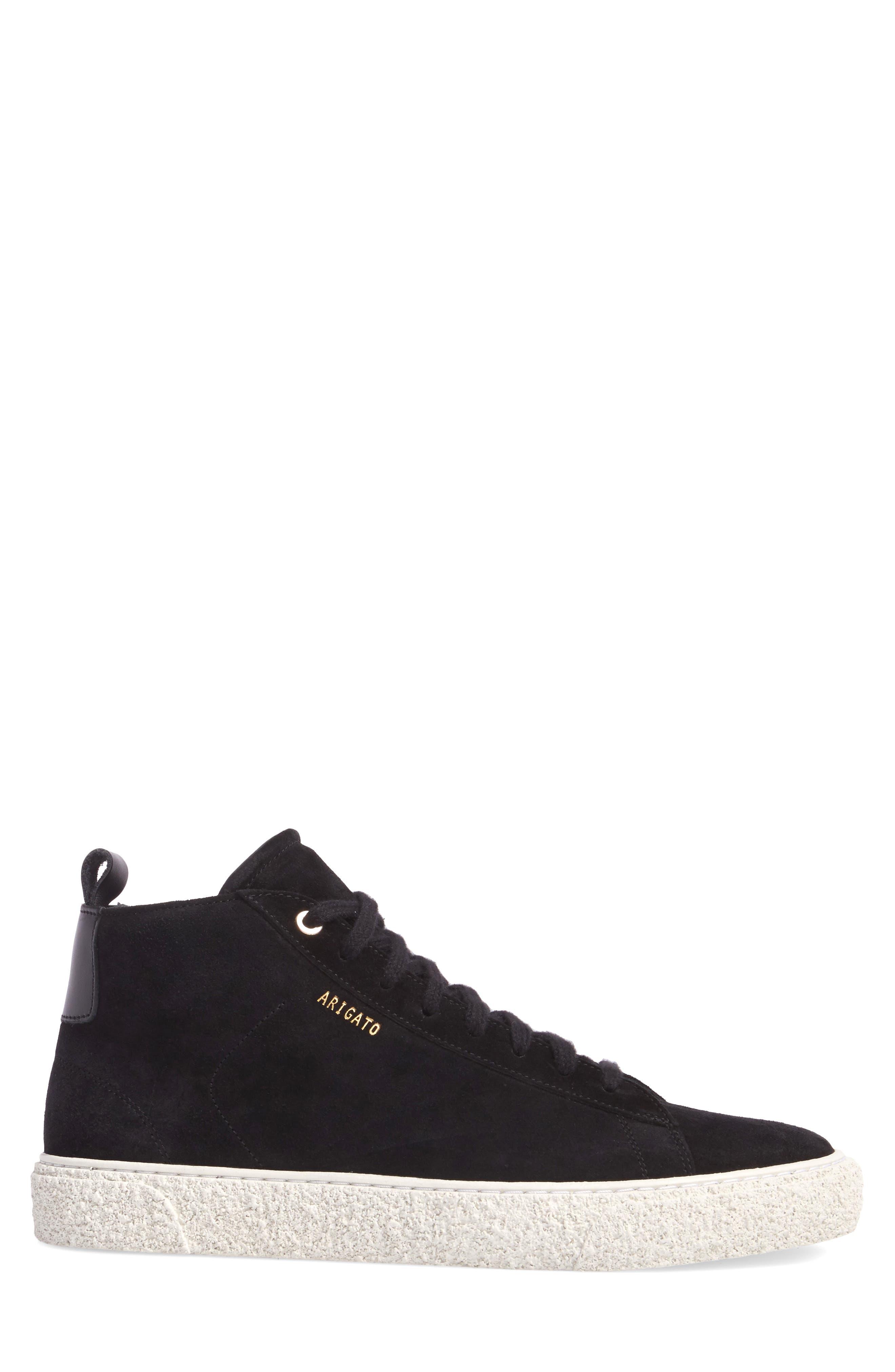 Chukka Sneaker,                             Alternate thumbnail 3, color,                             Black Suede