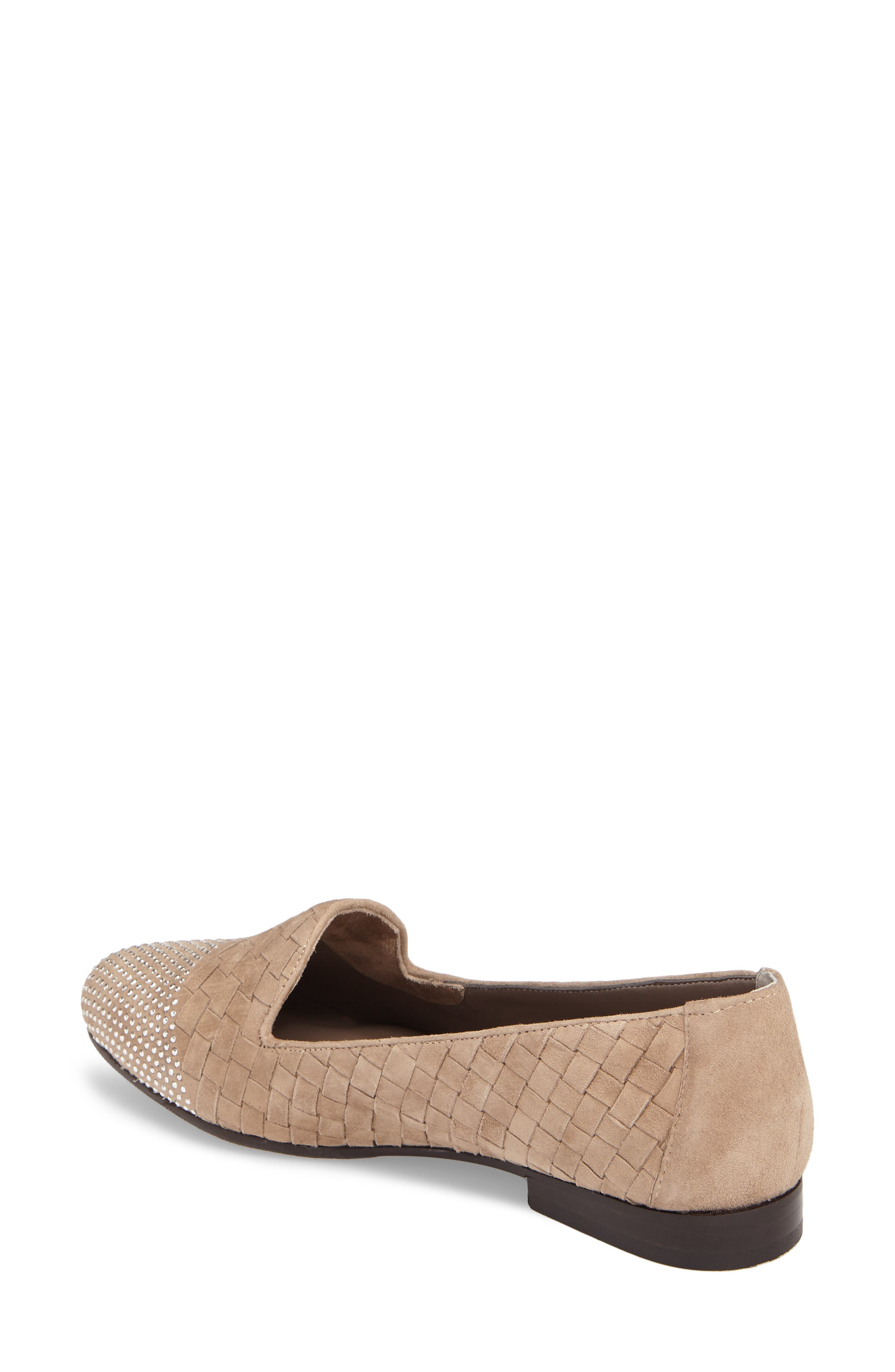 Nicia Flat,                             Alternate thumbnail 2, color,                             Light Taupe Suede