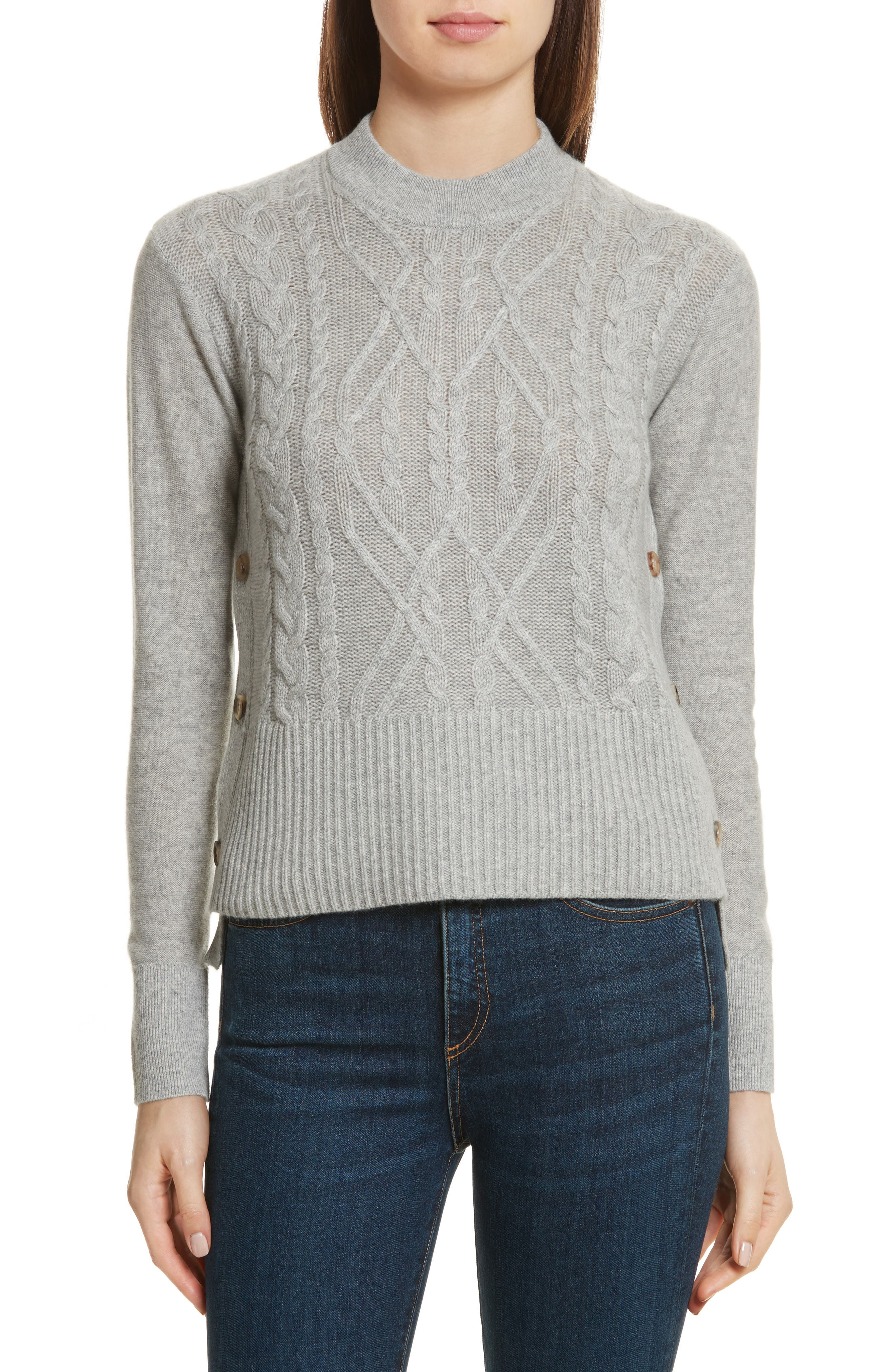 Kenna Cashmere Sweater,                             Main thumbnail 1, color,                             Grey