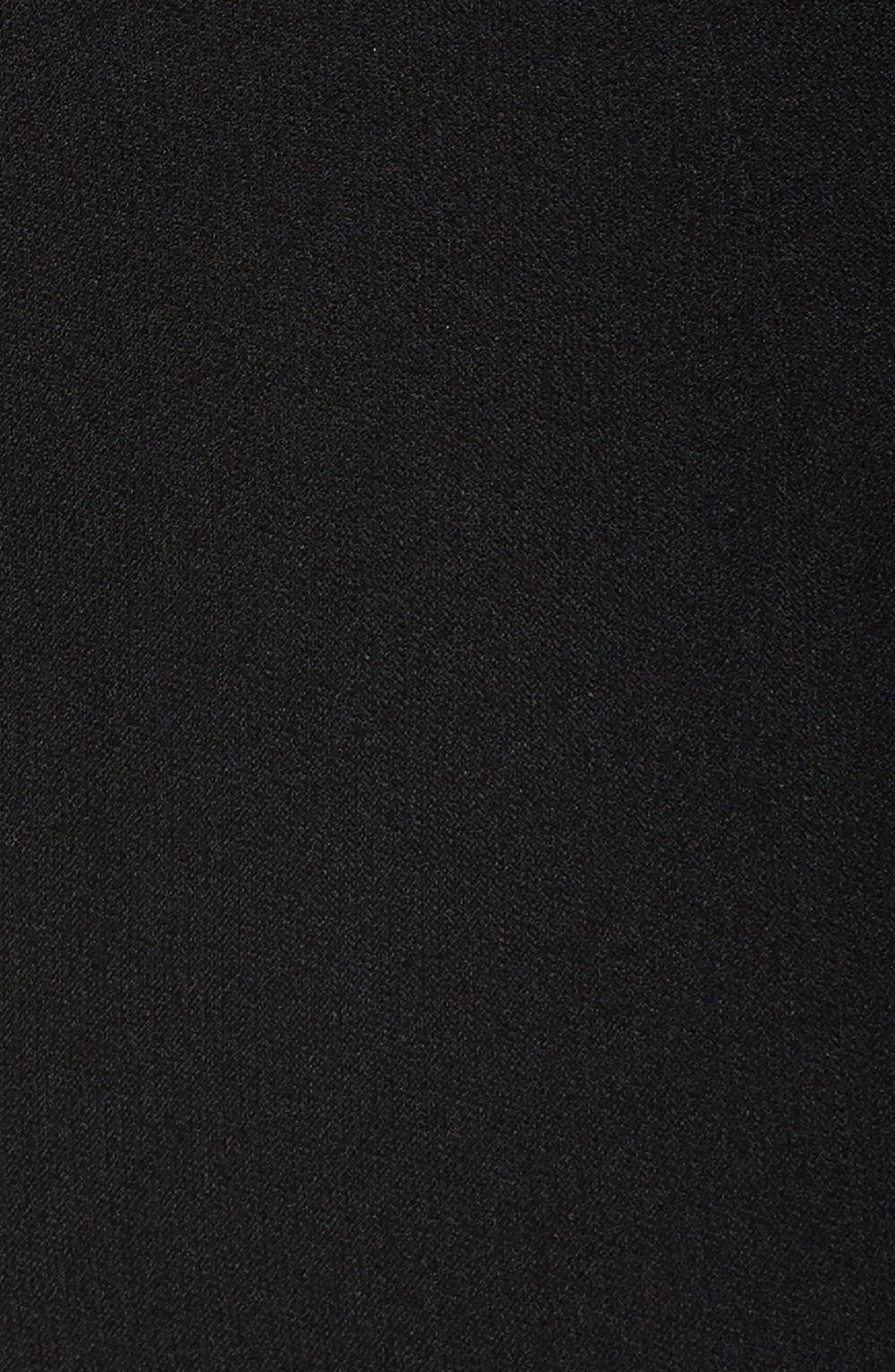 Crepe Jumpsuit,                             Alternate thumbnail 5, color,                             Black