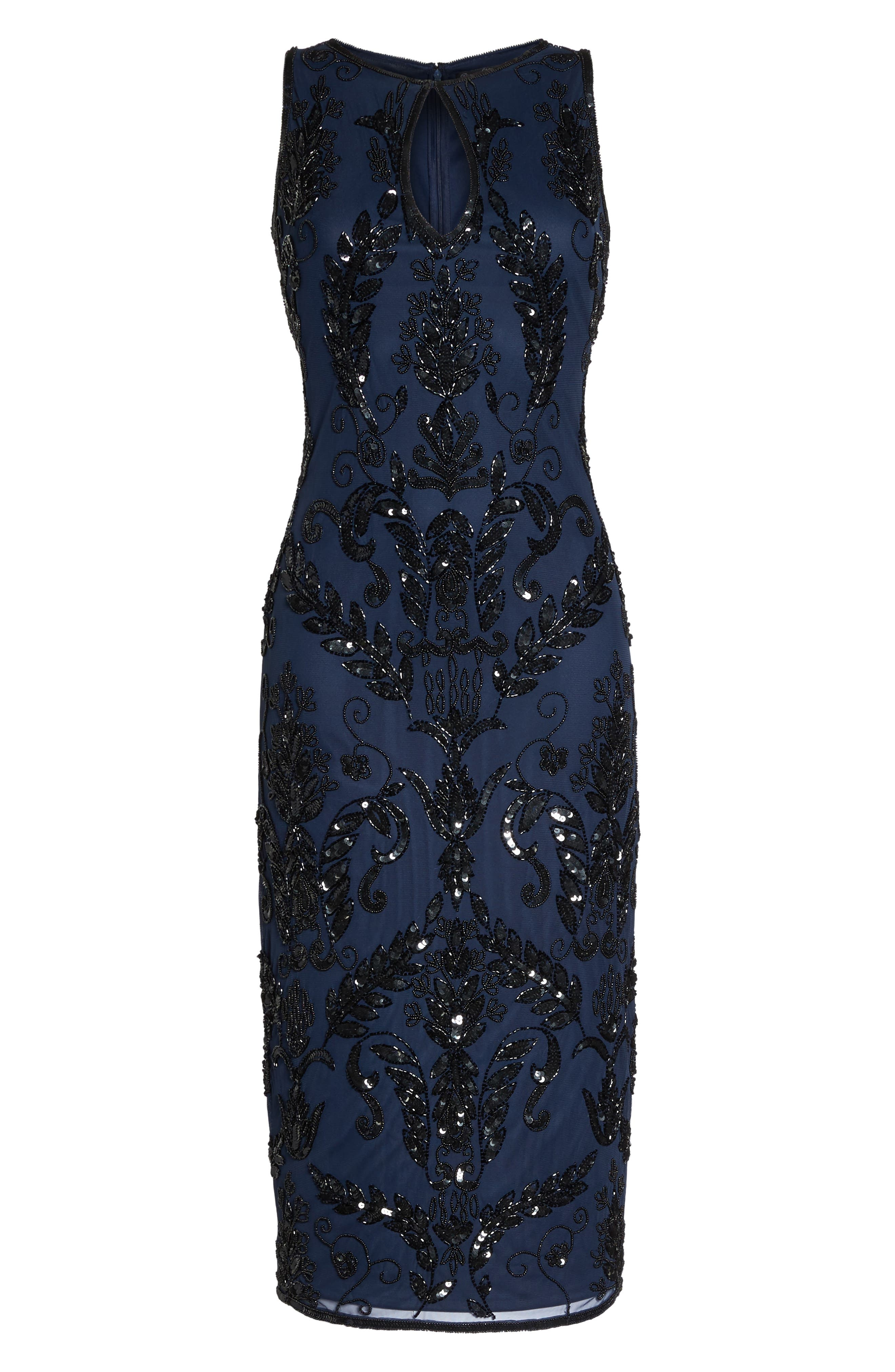 Pisarro Nights Beaded Pencil Dress