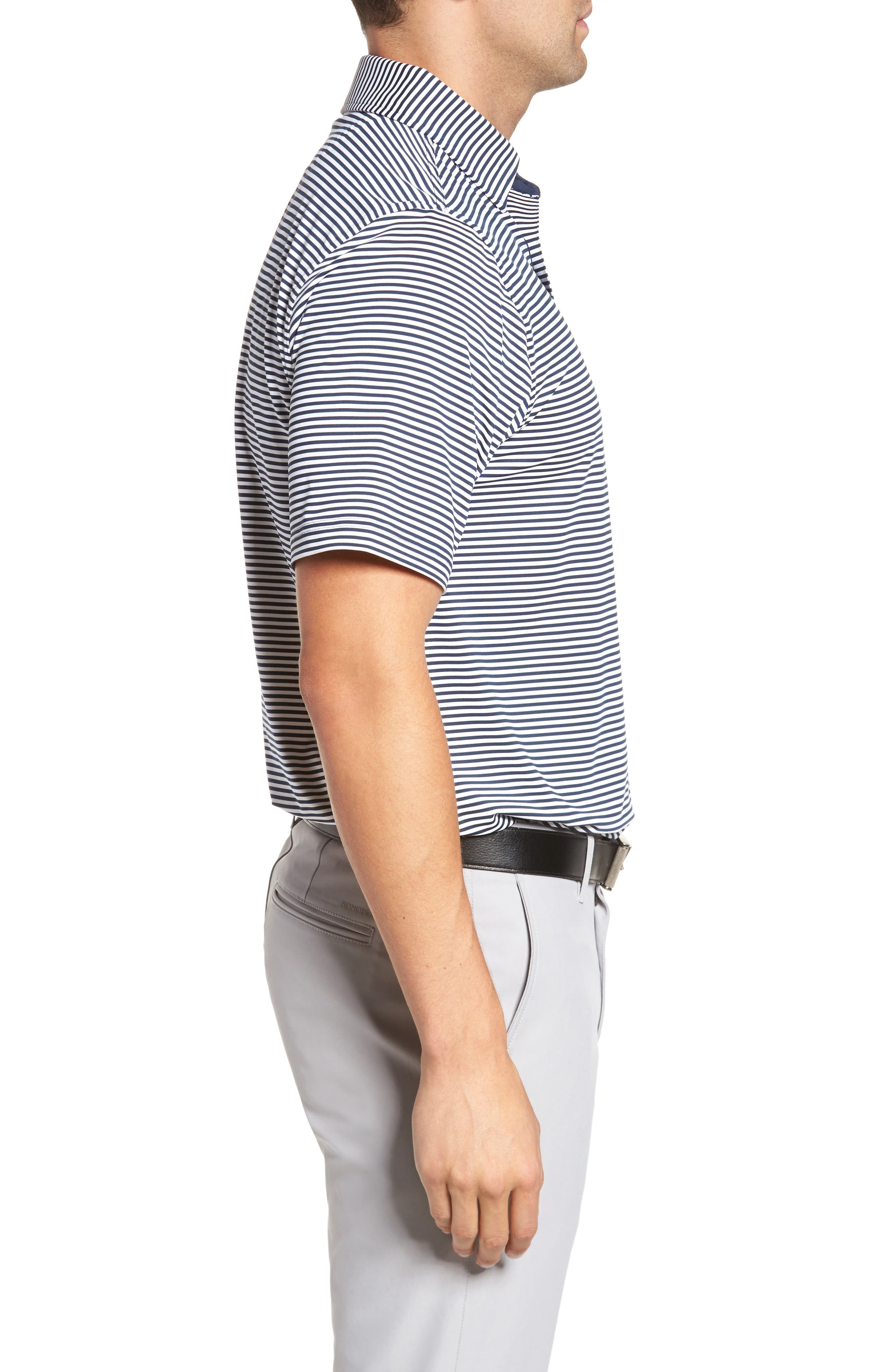 XH20 Ranger Stripe Polo,                             Alternate thumbnail 3, color,                             Midnight Ink