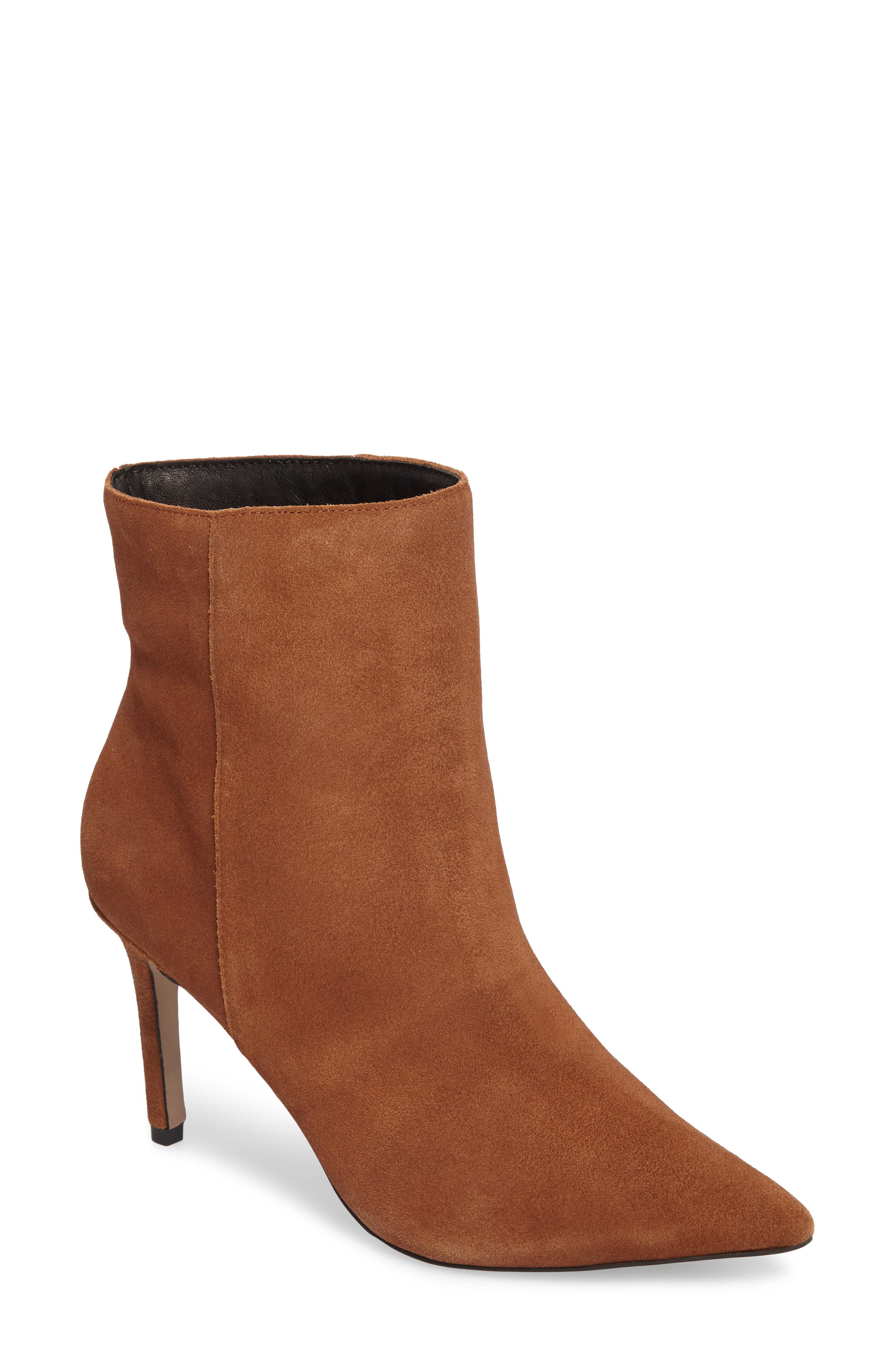 Holiday Stiletto Bootie,                             Main thumbnail 1, color,                             Tan