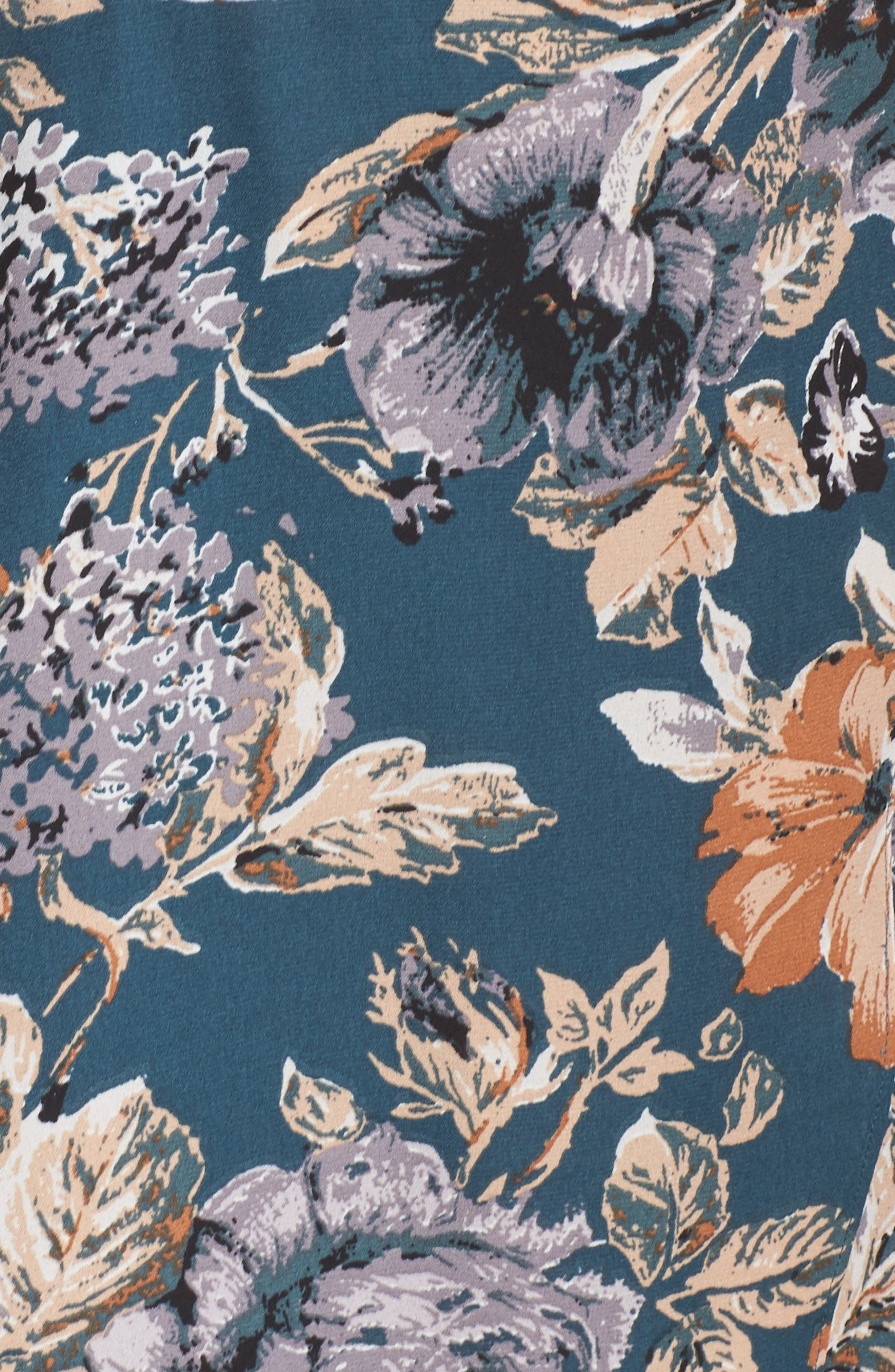 Je T'aime Midi Dress,                             Alternate thumbnail 6, color,                             Spruce Floral