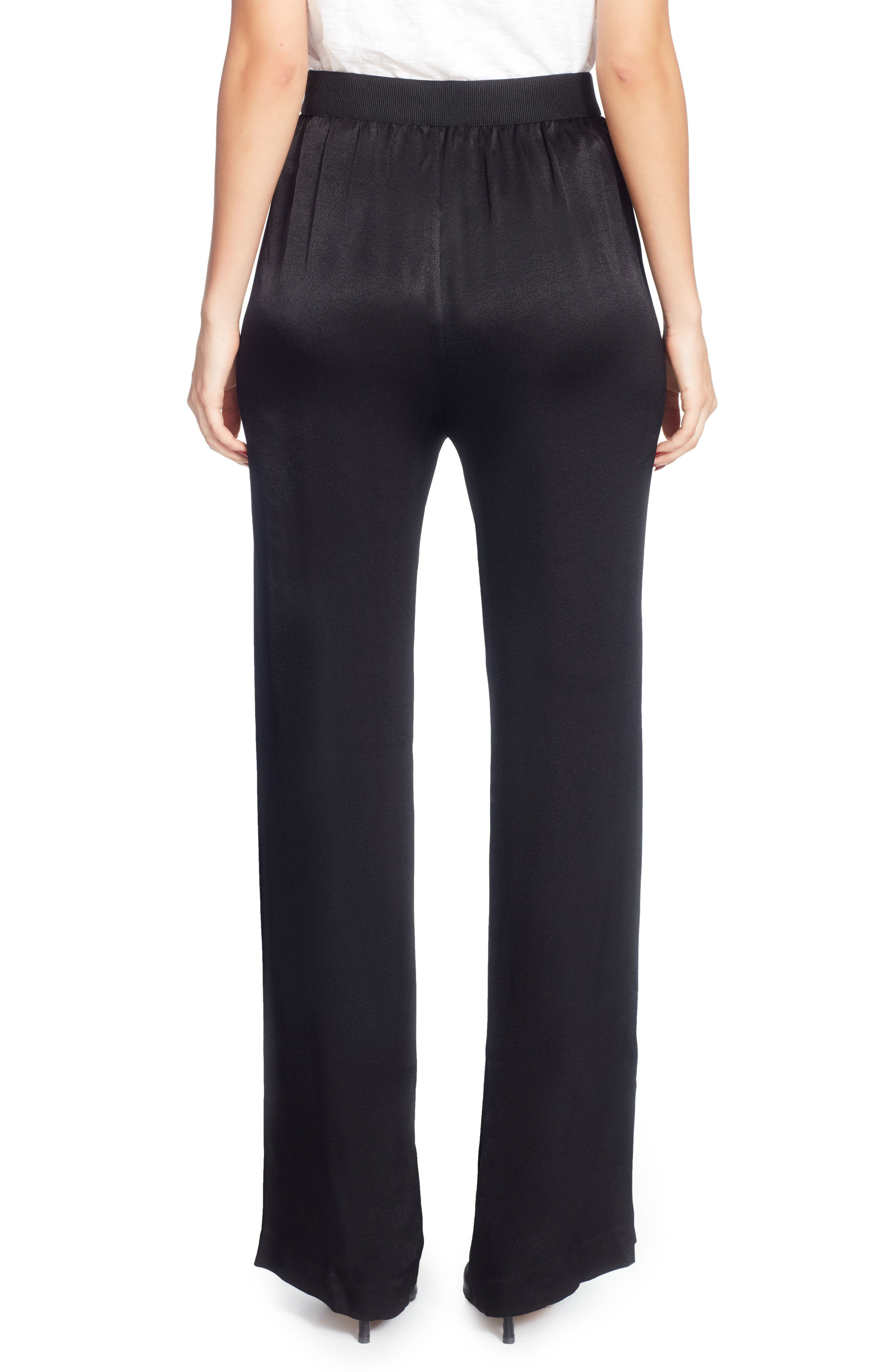 Lief Wide-Leg Pants,                             Alternate thumbnail 2, color,                             Black