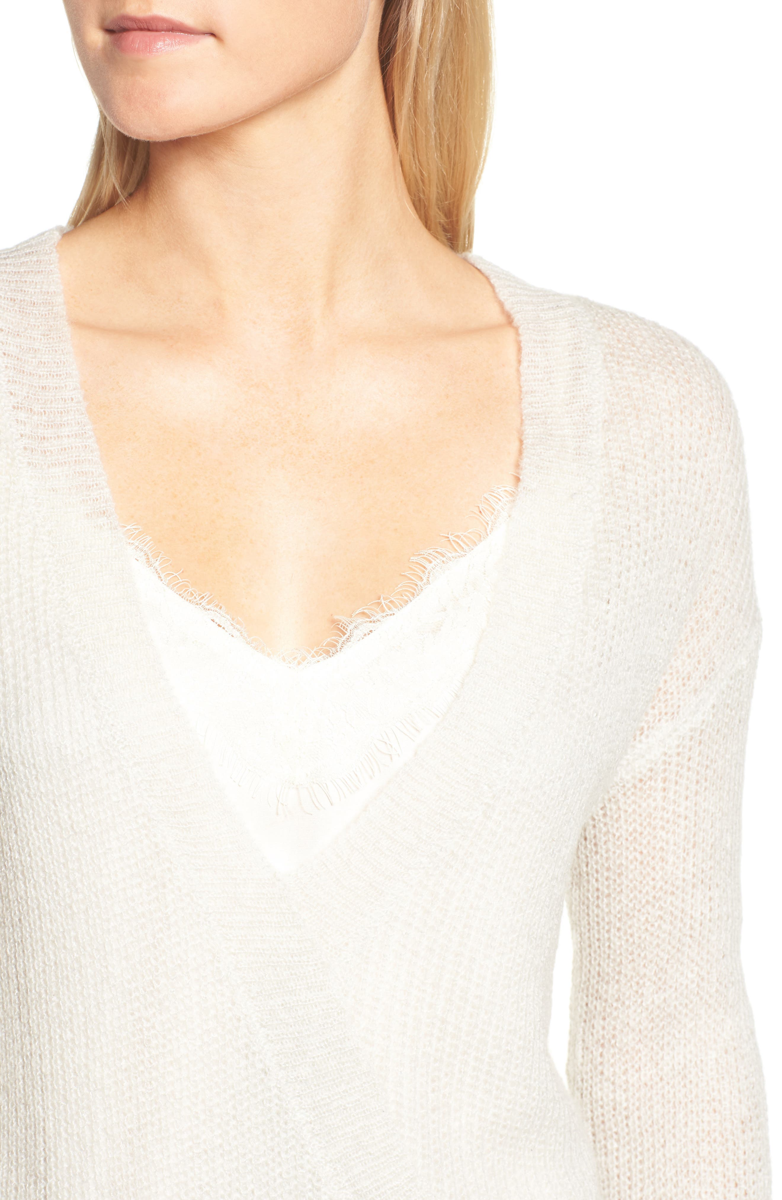 Alternate Image 4  - cupcakes and cashmere Sternberg V-Neck Sweater