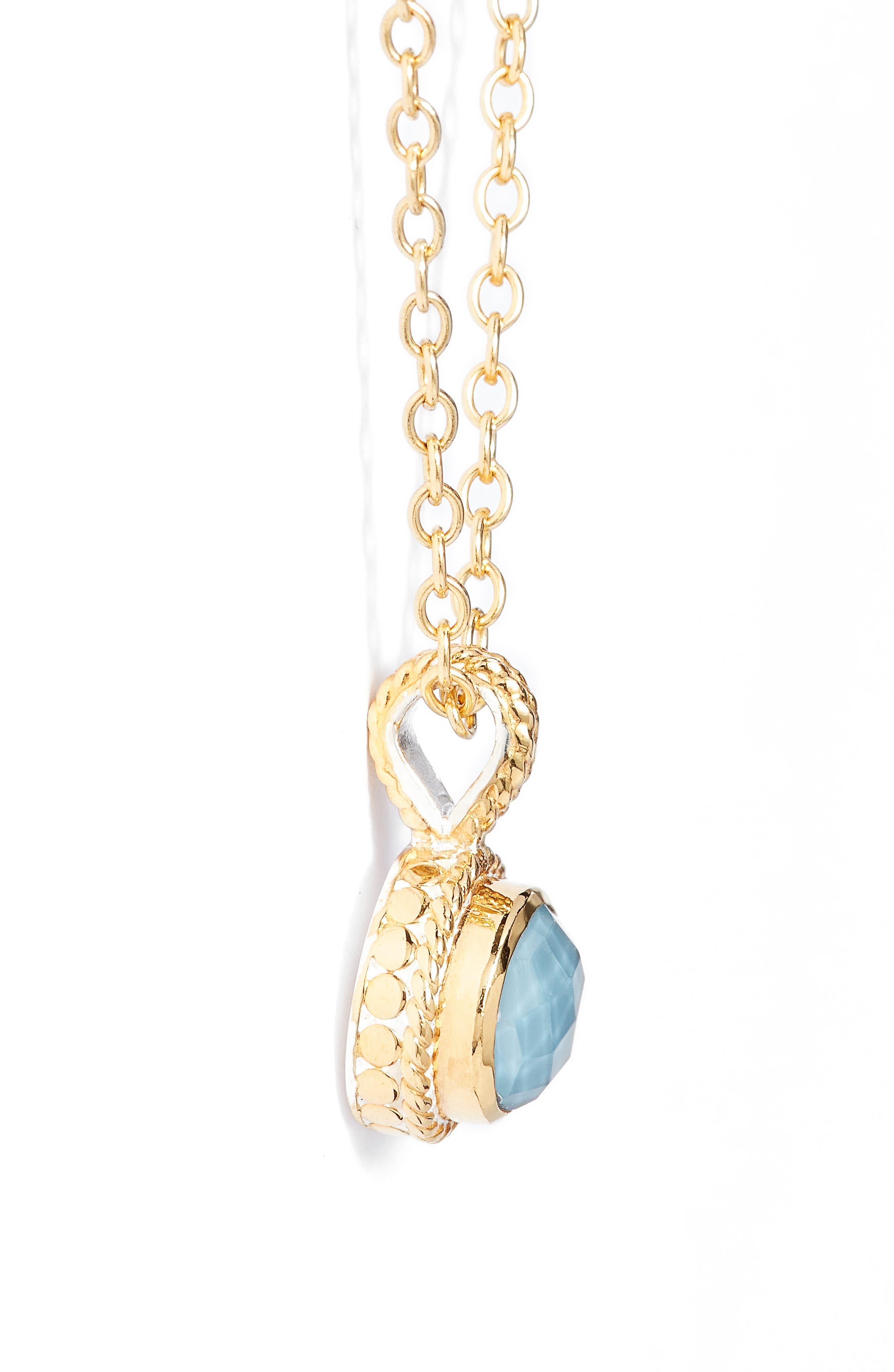 Alternate Image 3  - Anna Beck Semiprecious Stone Round Drop Pendant Necklace