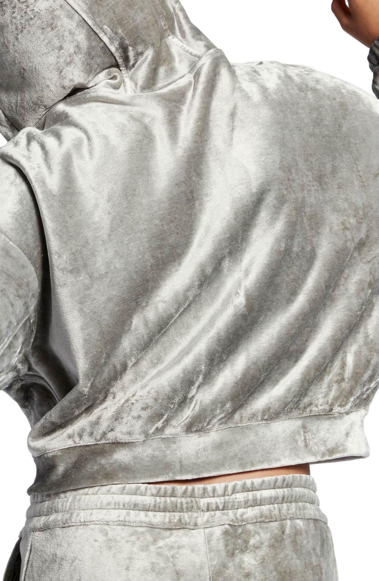 Alternate Image 2  - Nike NikeLab Essentials Women's Velour Zip Hoodie