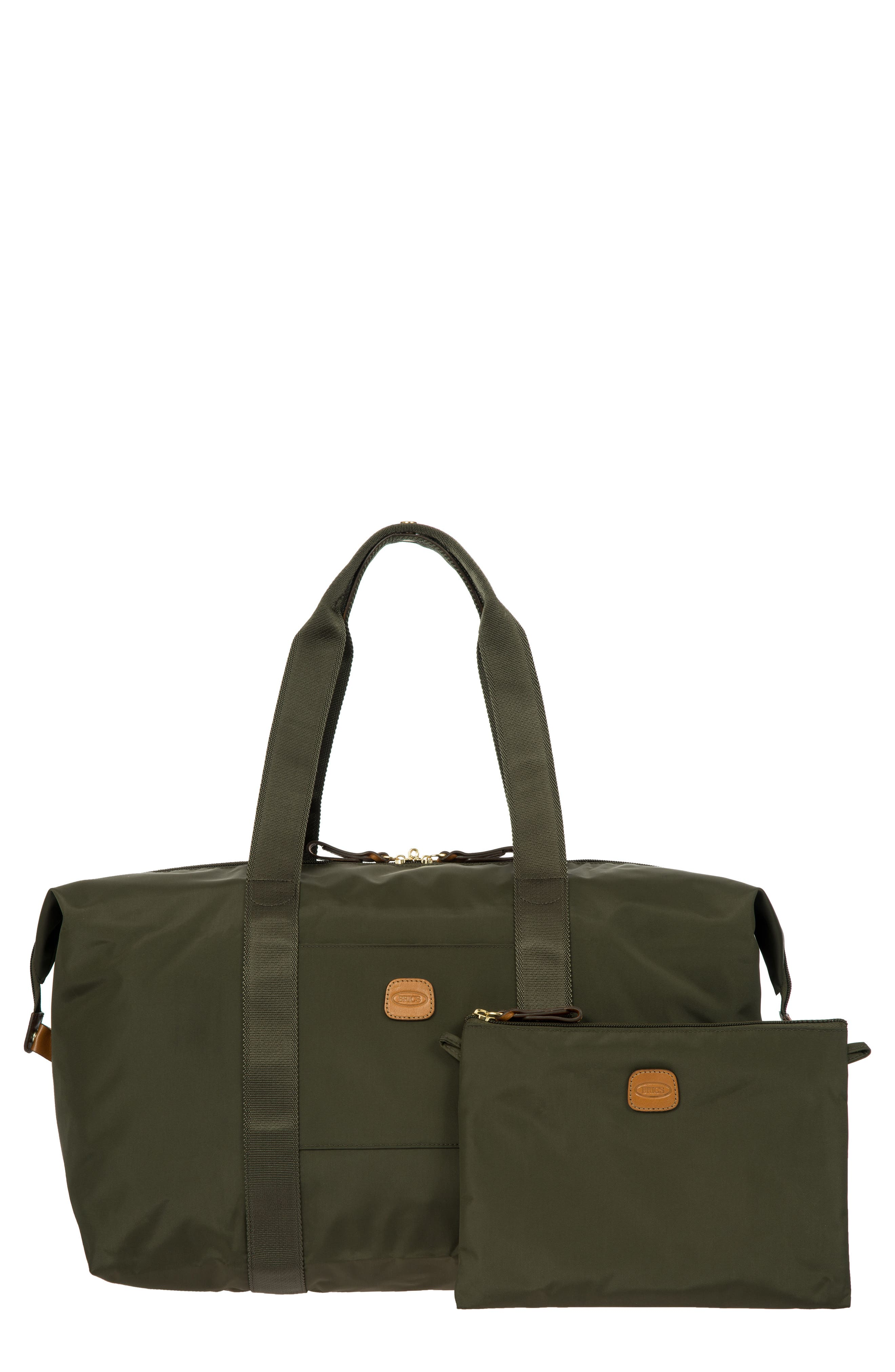 X-Bag 18-Inch Folding Duffel Bag,                             Main thumbnail 1, color,                             Olive