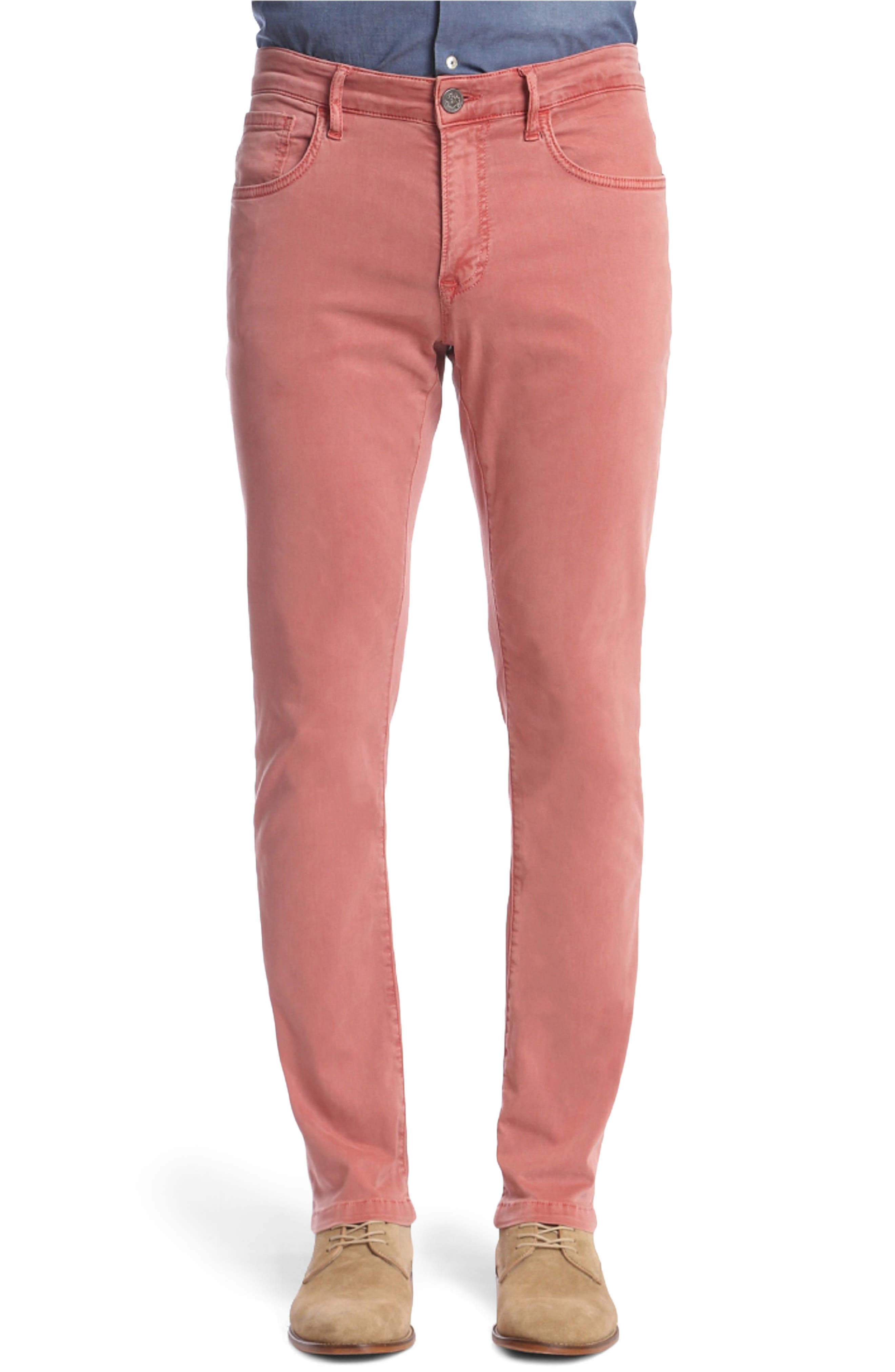 Main Image - 34 Heritage Charisma Relaxed Fit Twill Pants (Brick)