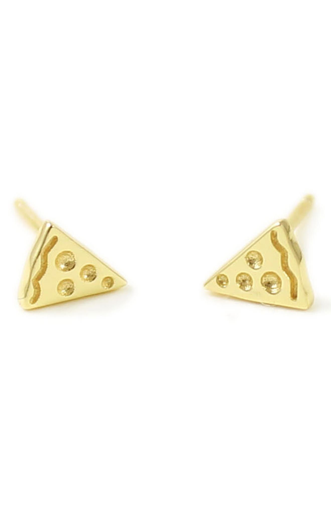 Kris Nations Pizza Stud Earrings