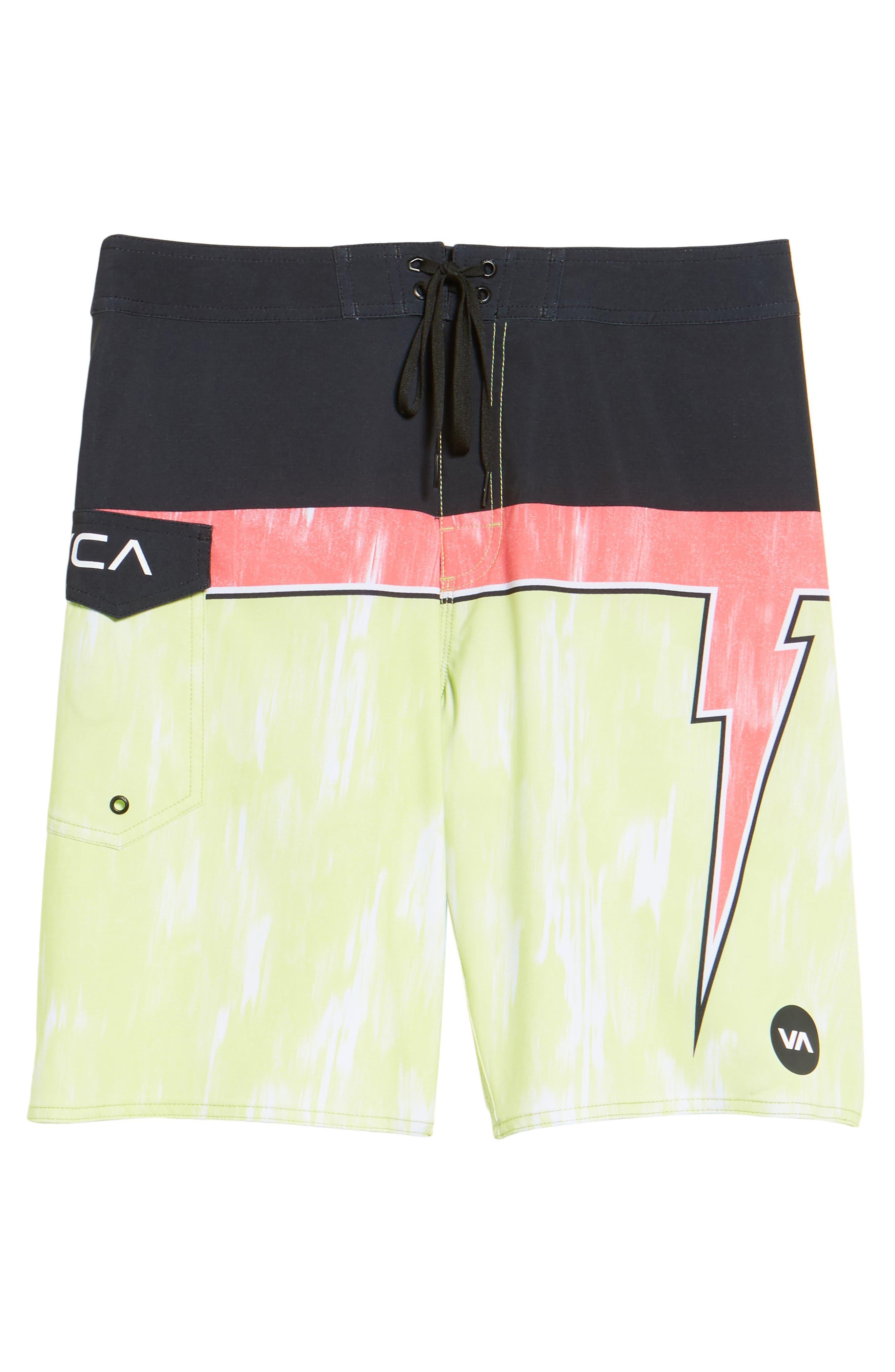Makua Bolt Board Shorts,                             Alternate thumbnail 6, color,                             Yellow Fade