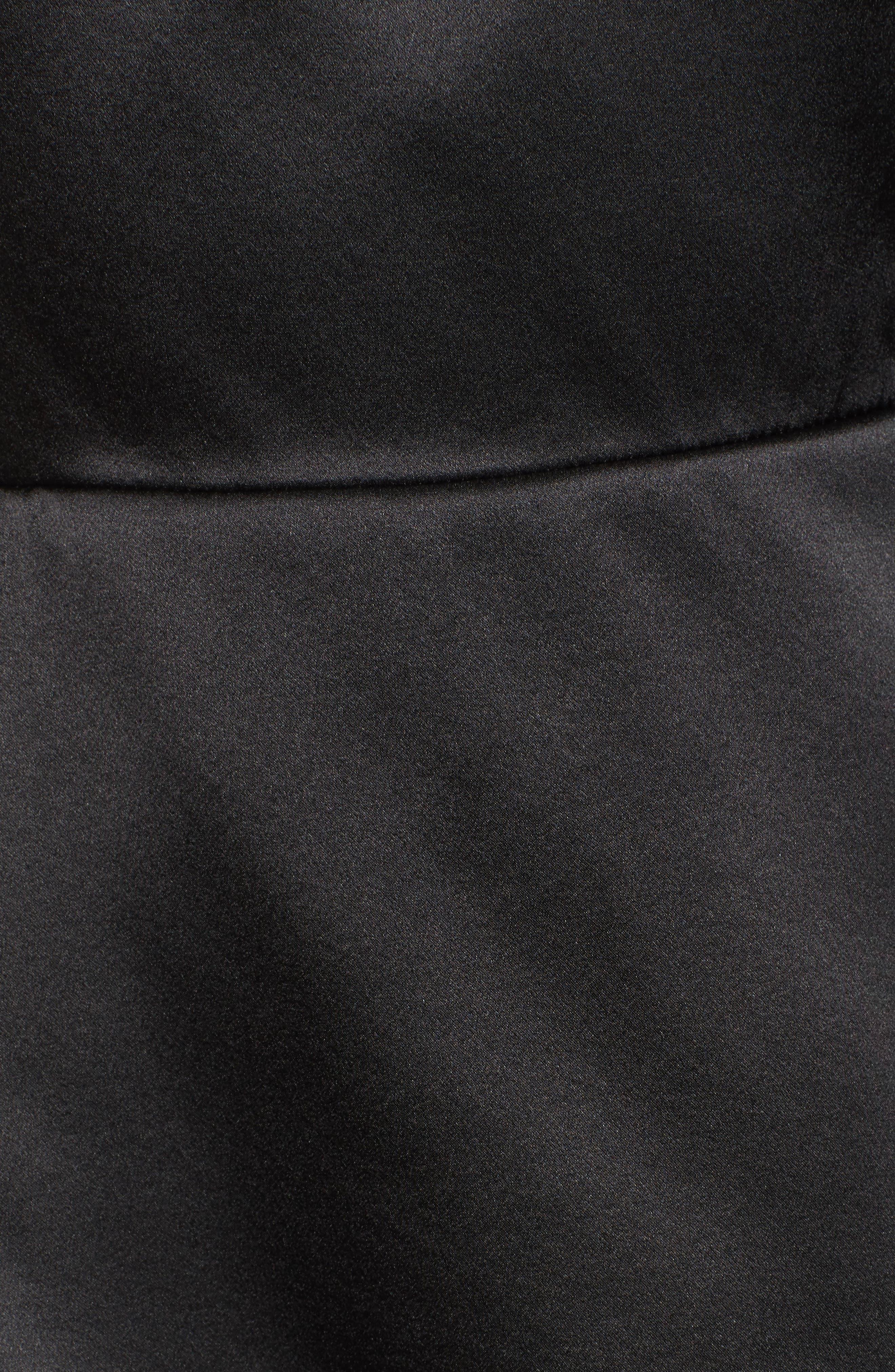 Cache One-Shoulder Silk Blouse,                             Alternate thumbnail 5, color,                             Black