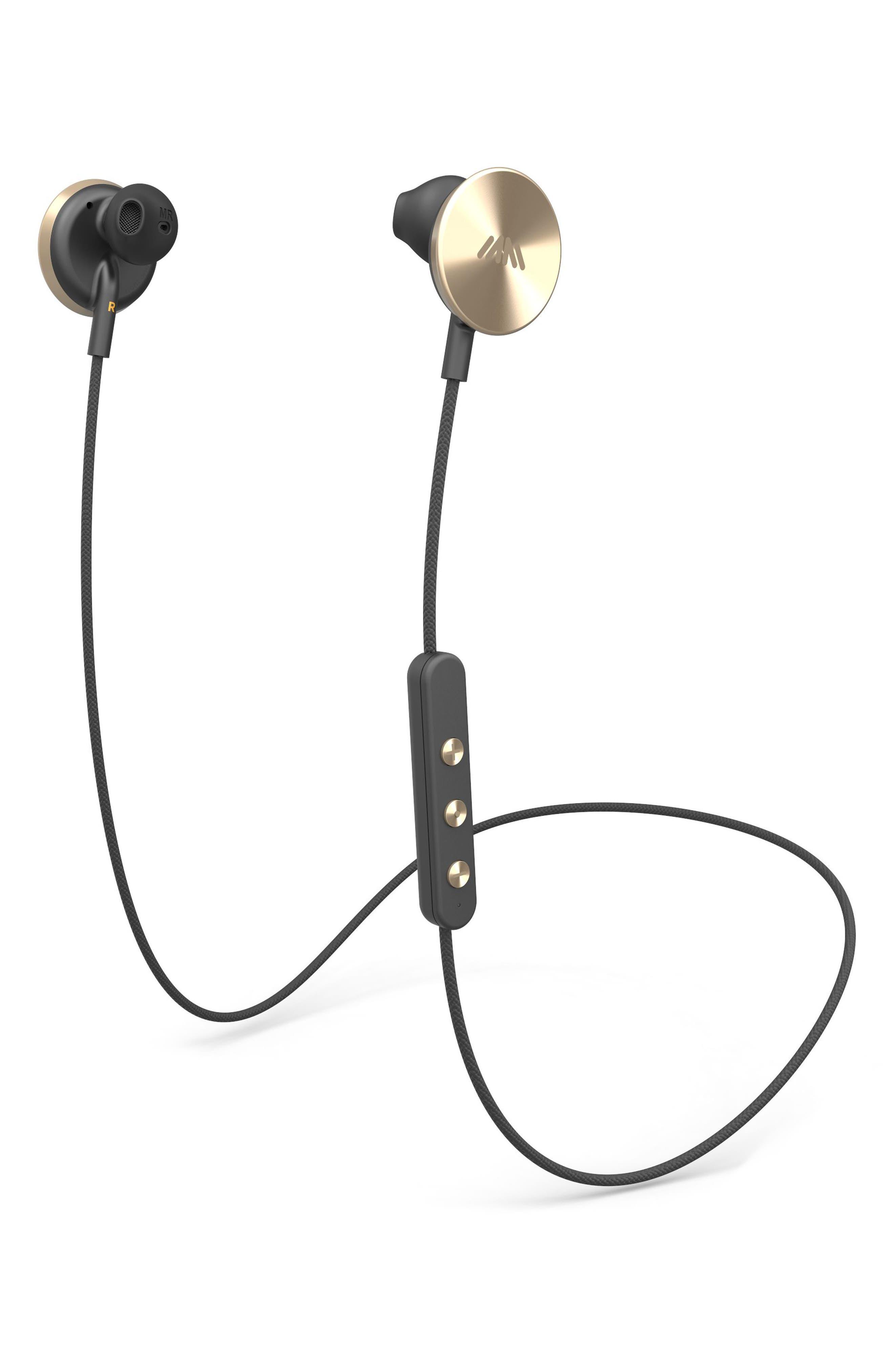 i.am+ Buttons Bluetooth Headphones,                         Main,                         color, Gold/ Black