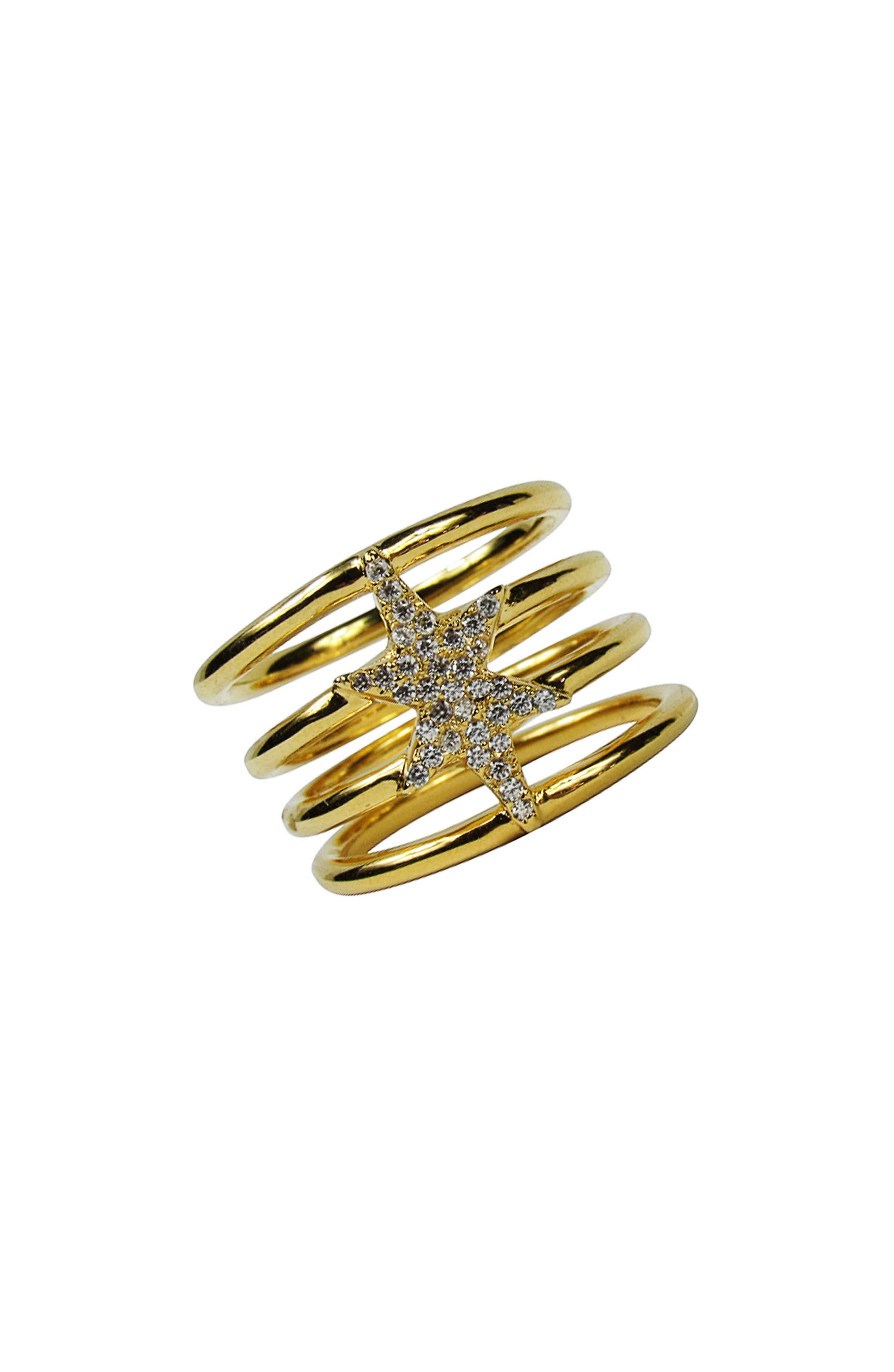 North Star Statement Ring,                         Main,                         color, Gold