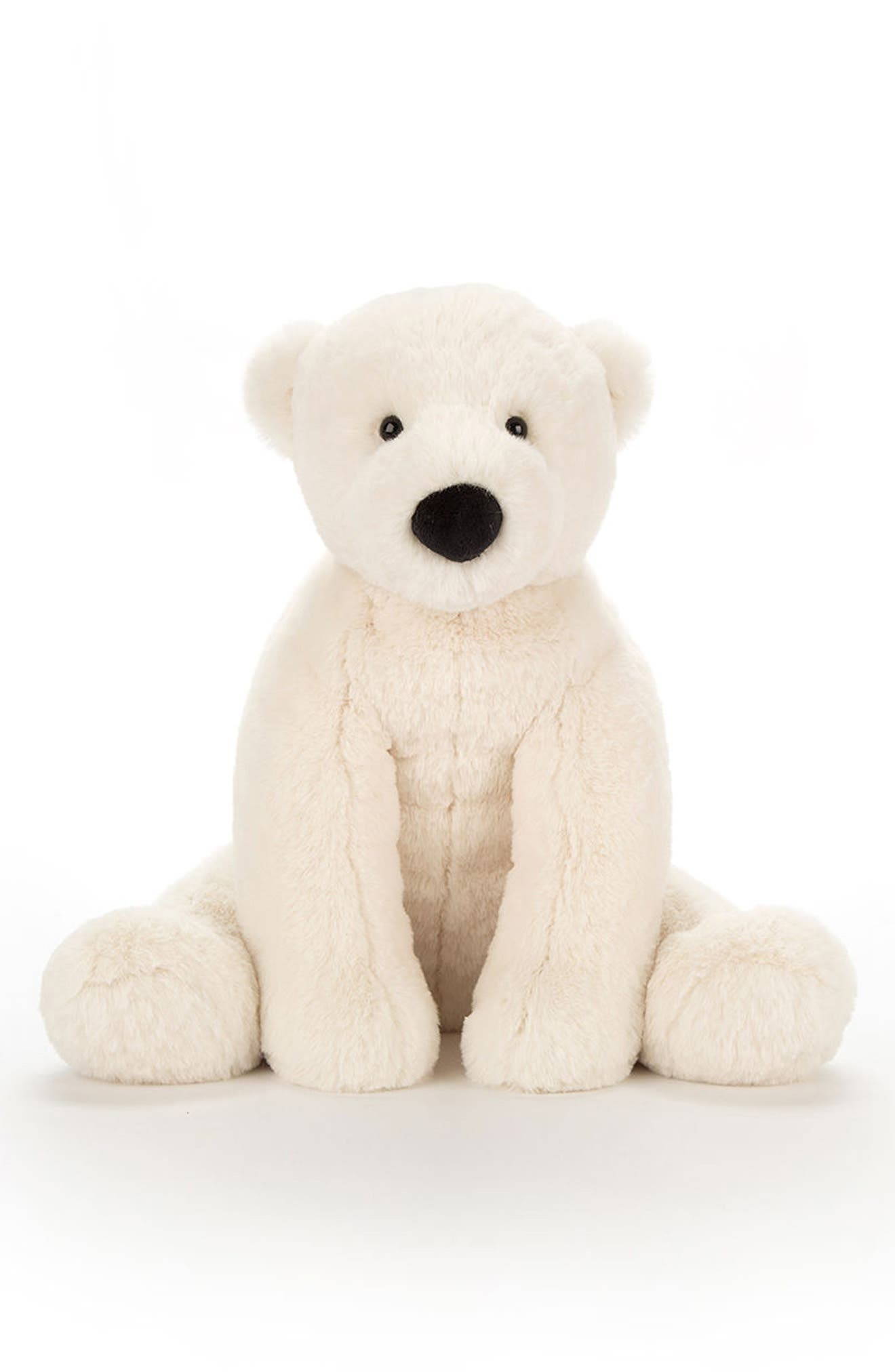 Perry Polar Bear Stuffed Animal,                             Main thumbnail 1, color,                             White