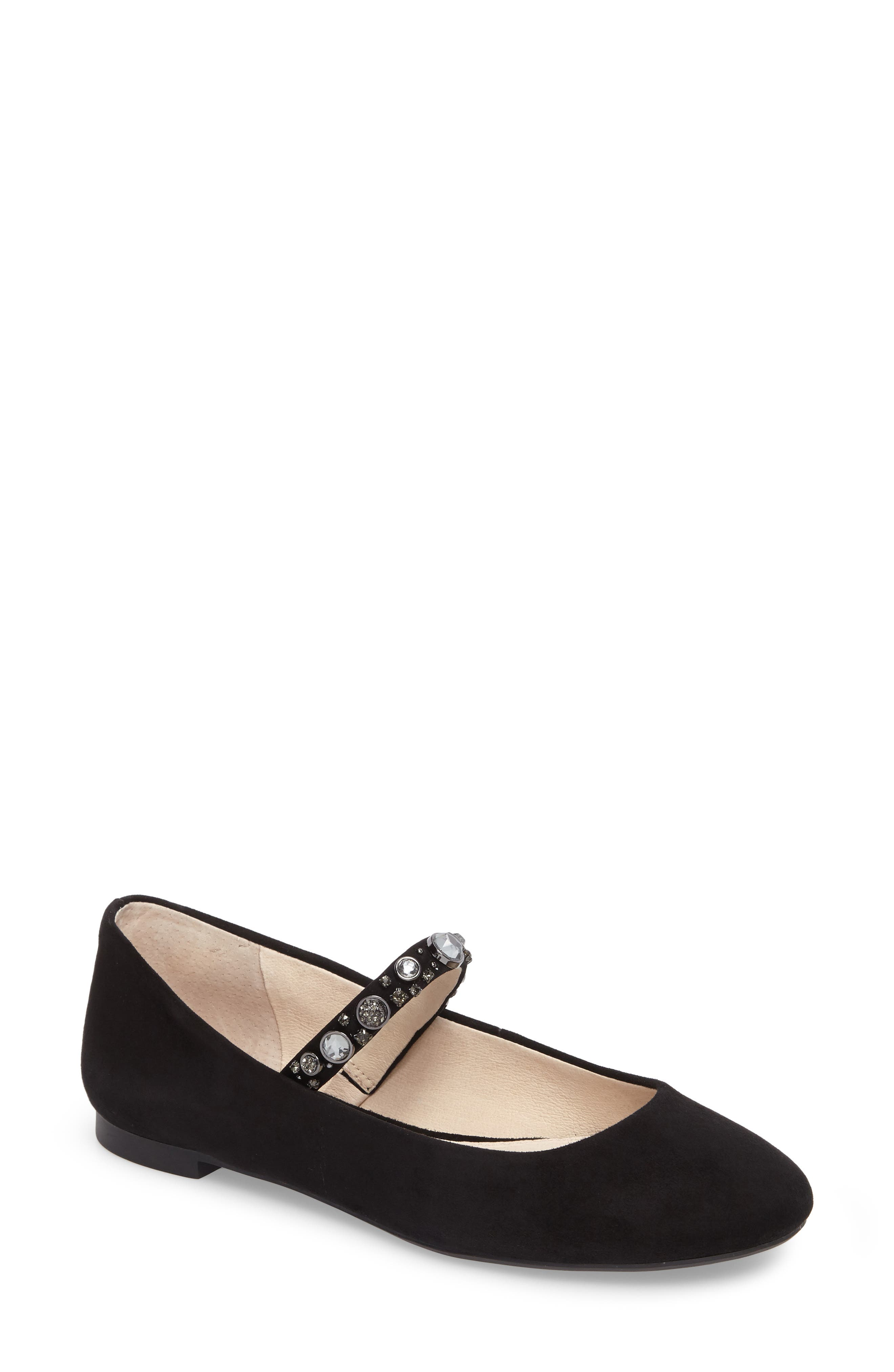 Casa Mary Jane Flat,                         Main,                         color, Black Suede