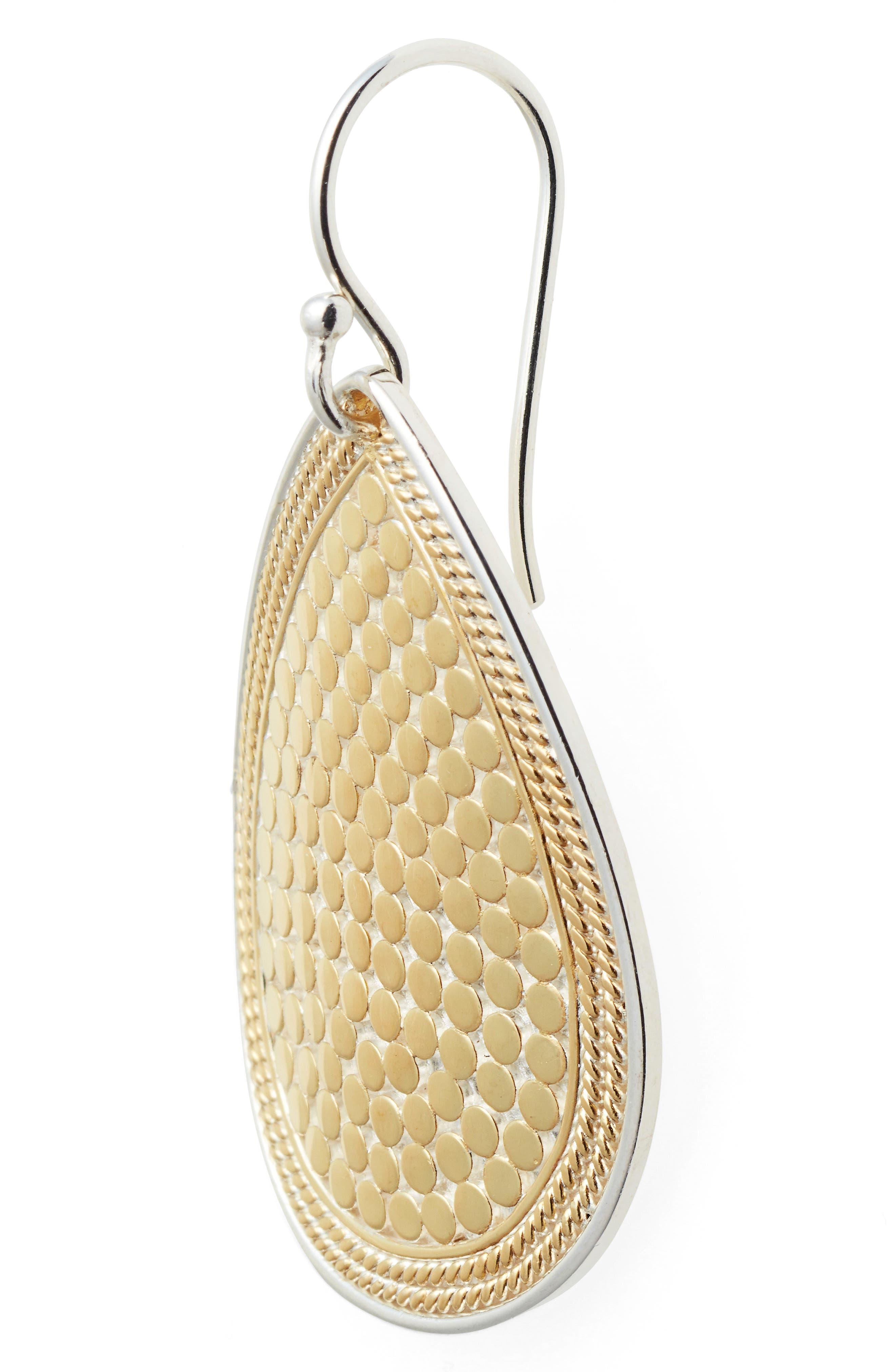 Gili Teardrop Earrings,                             Alternate thumbnail 4, color,                             Gold/ Silver