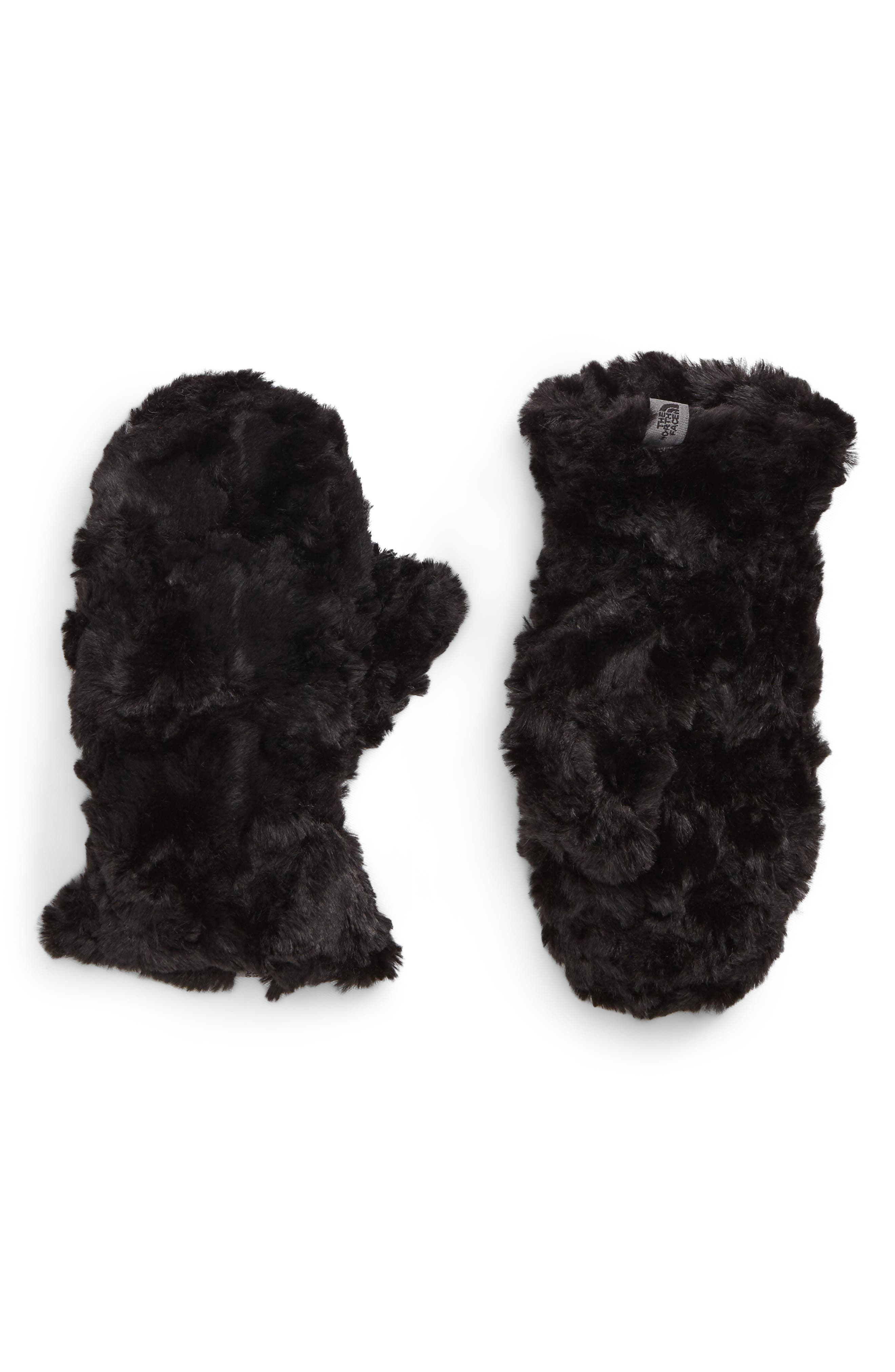 Mossbud Swirl Reversible Water Resistant Mittens,                             Alternate thumbnail 2, color,                             Tnf Black