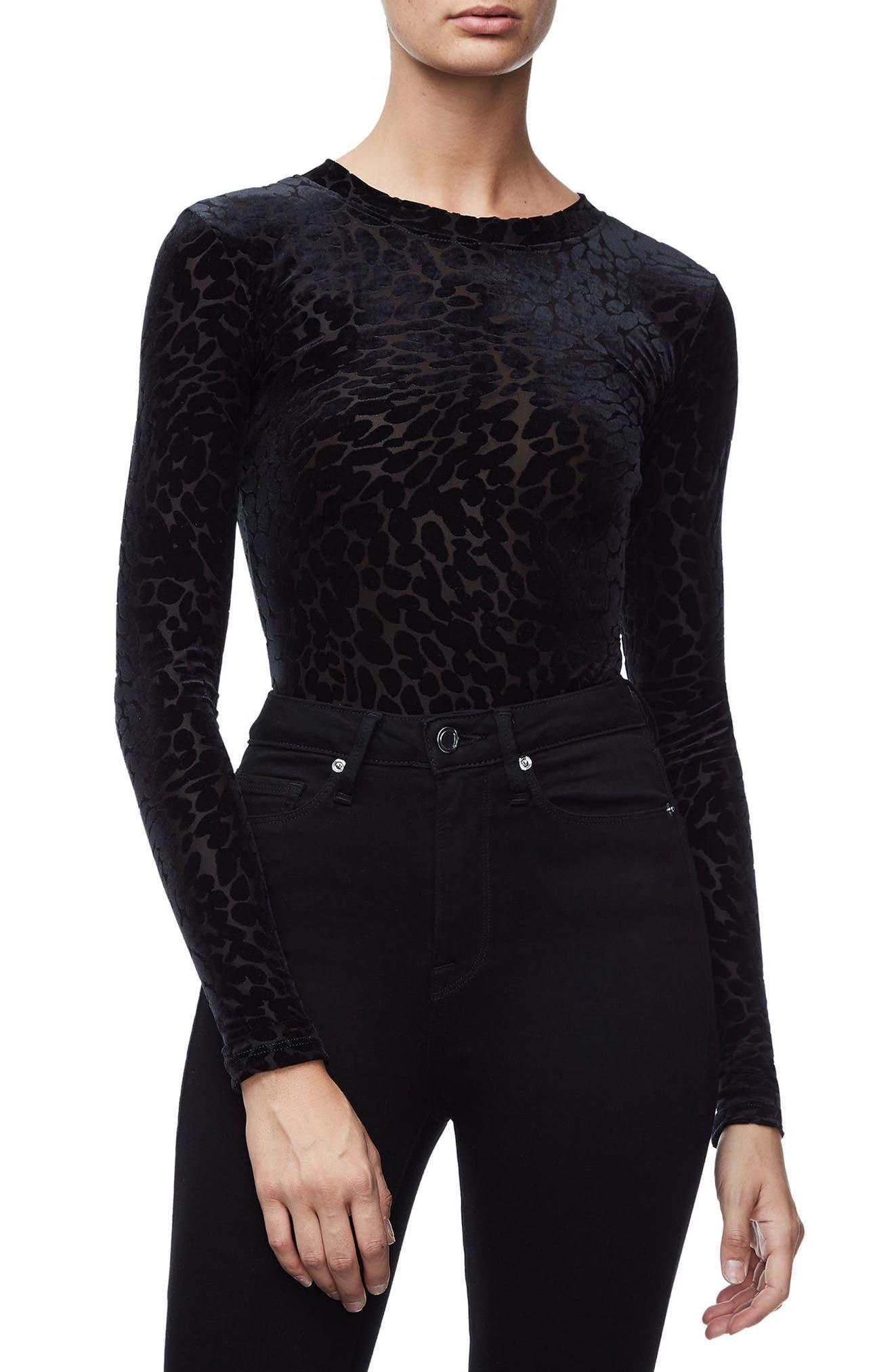 The Wilder One Bodysuit,                         Main,                         color, Black001