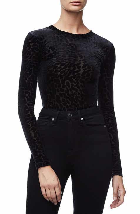 Good American The Wilder One Bodysuit (Black 001) (Regular   Plus Size) f17945428