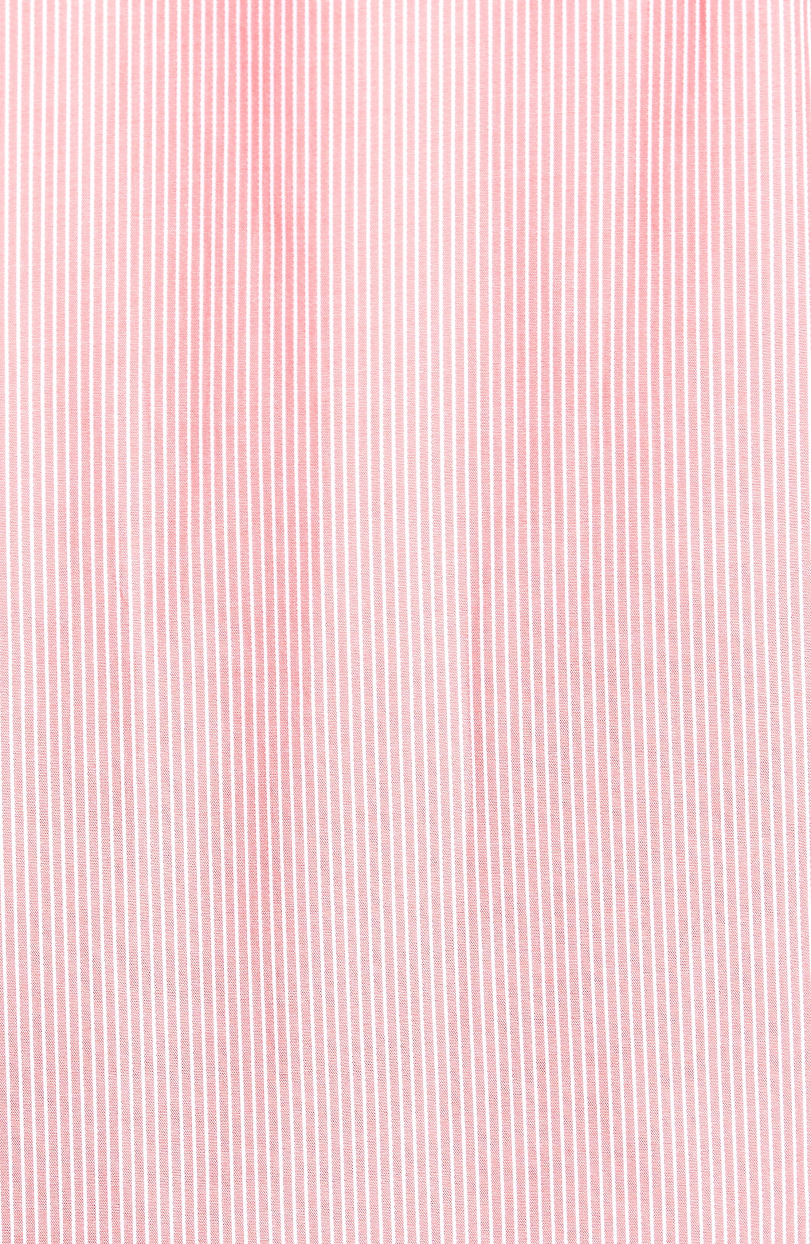 Many Regular Fit Stripe Sport Shirt,                             Alternate thumbnail 5, color,                             Coral