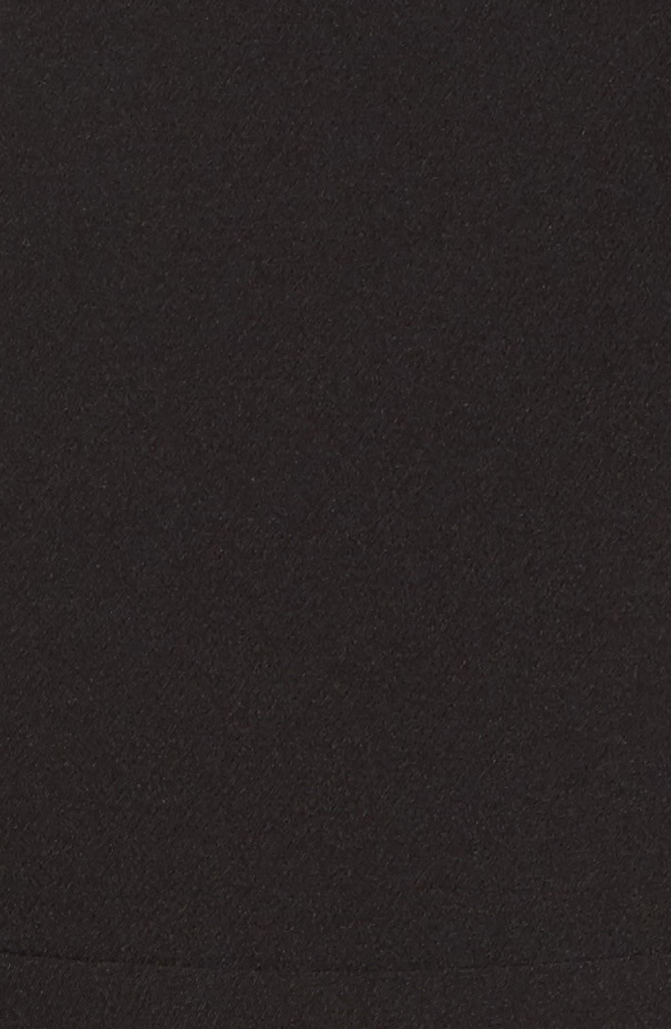 One-Shoulder Ruffle Jumpsuit,                             Alternate thumbnail 5, color,                             Black