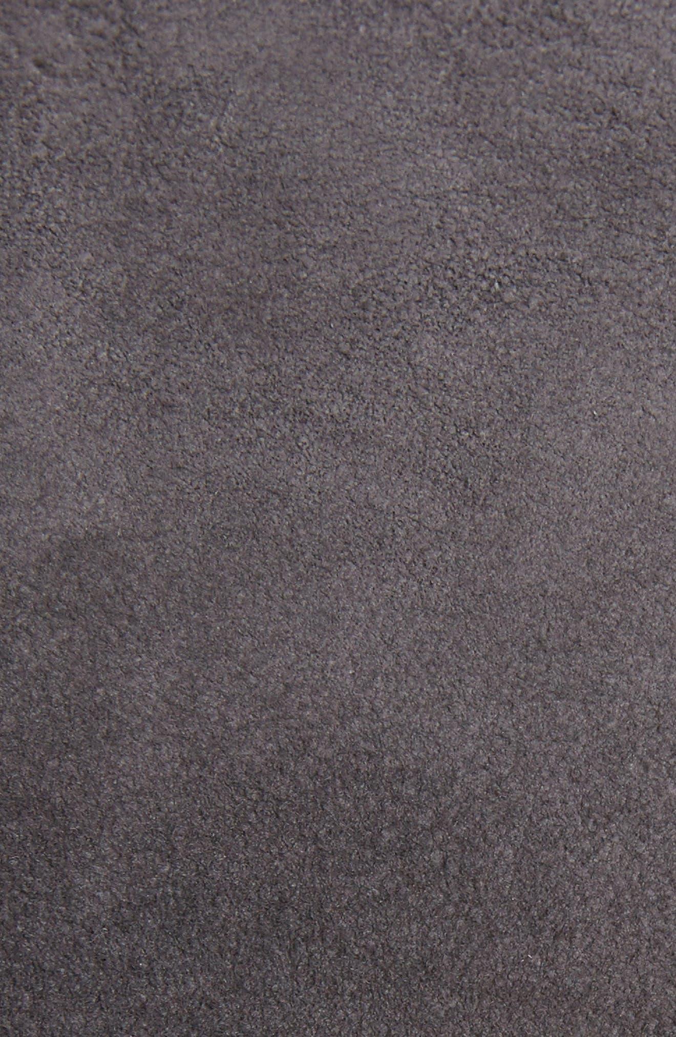 Blistered Leather Jacket,                             Alternate thumbnail 5, color,                             Iron
