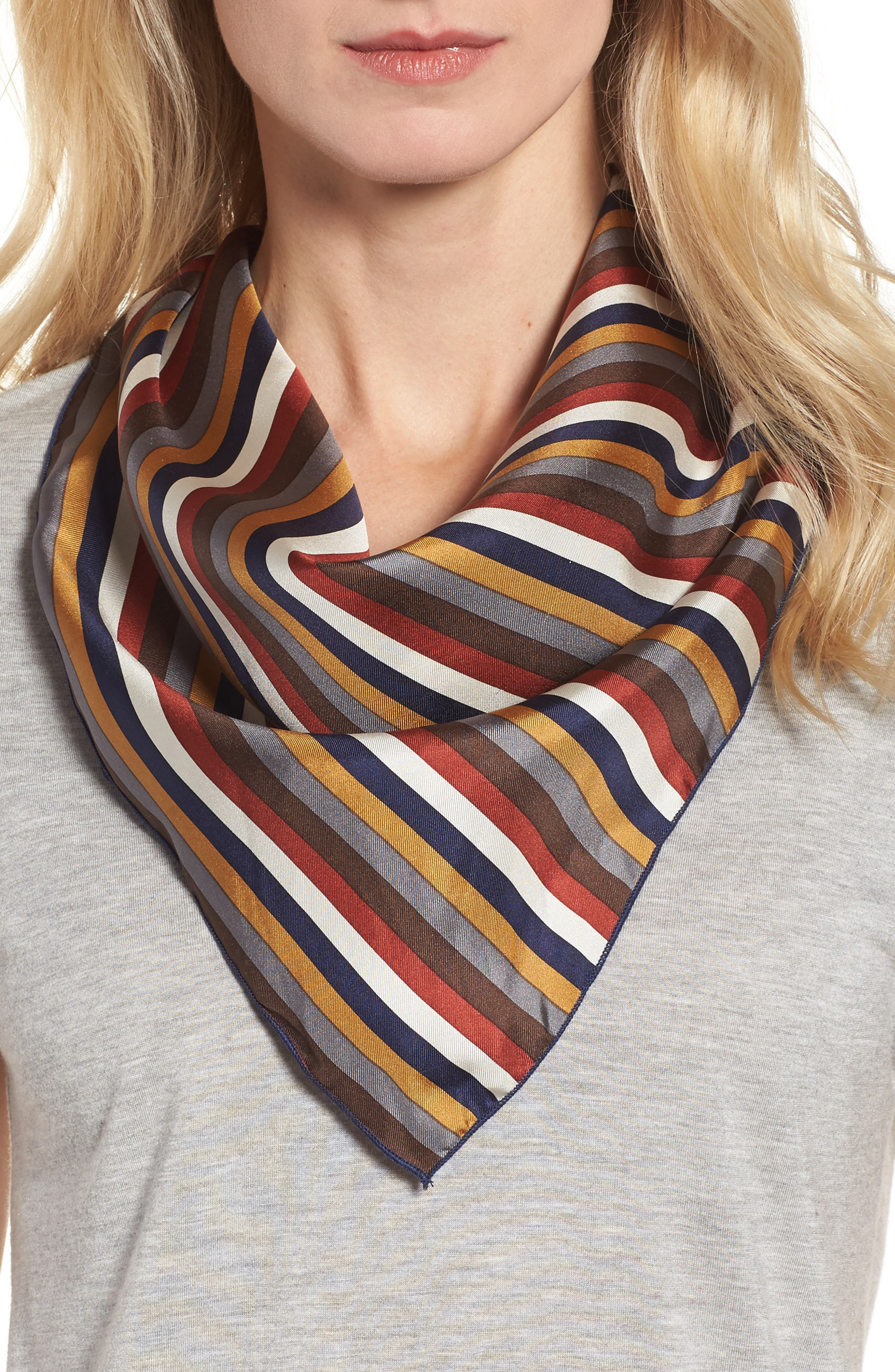 Donni Charm Stripe Silk Neckerchief