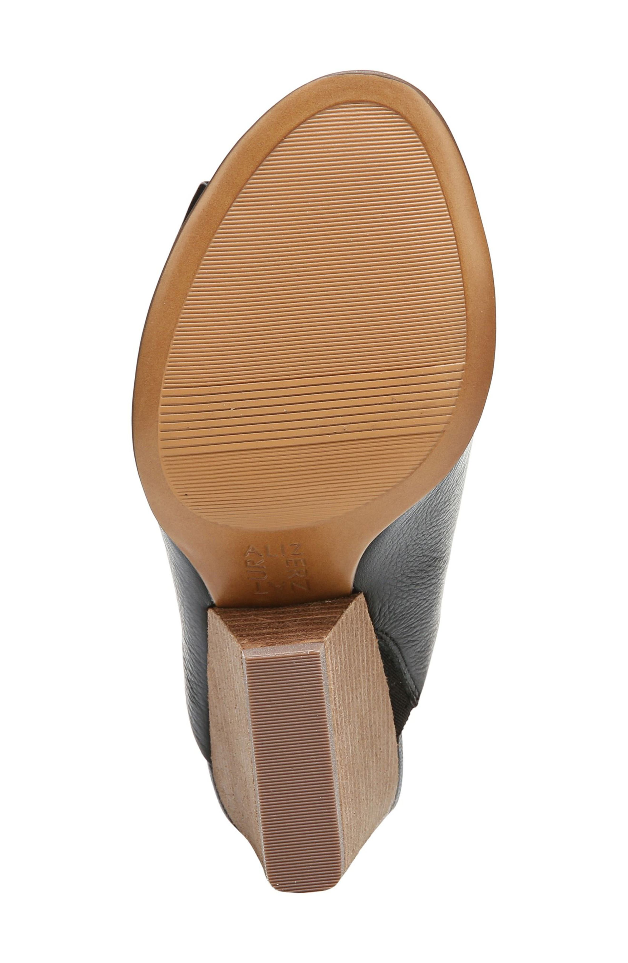 Sloan Sandal,                             Alternate thumbnail 6, color,                             Black Pebbled Leather