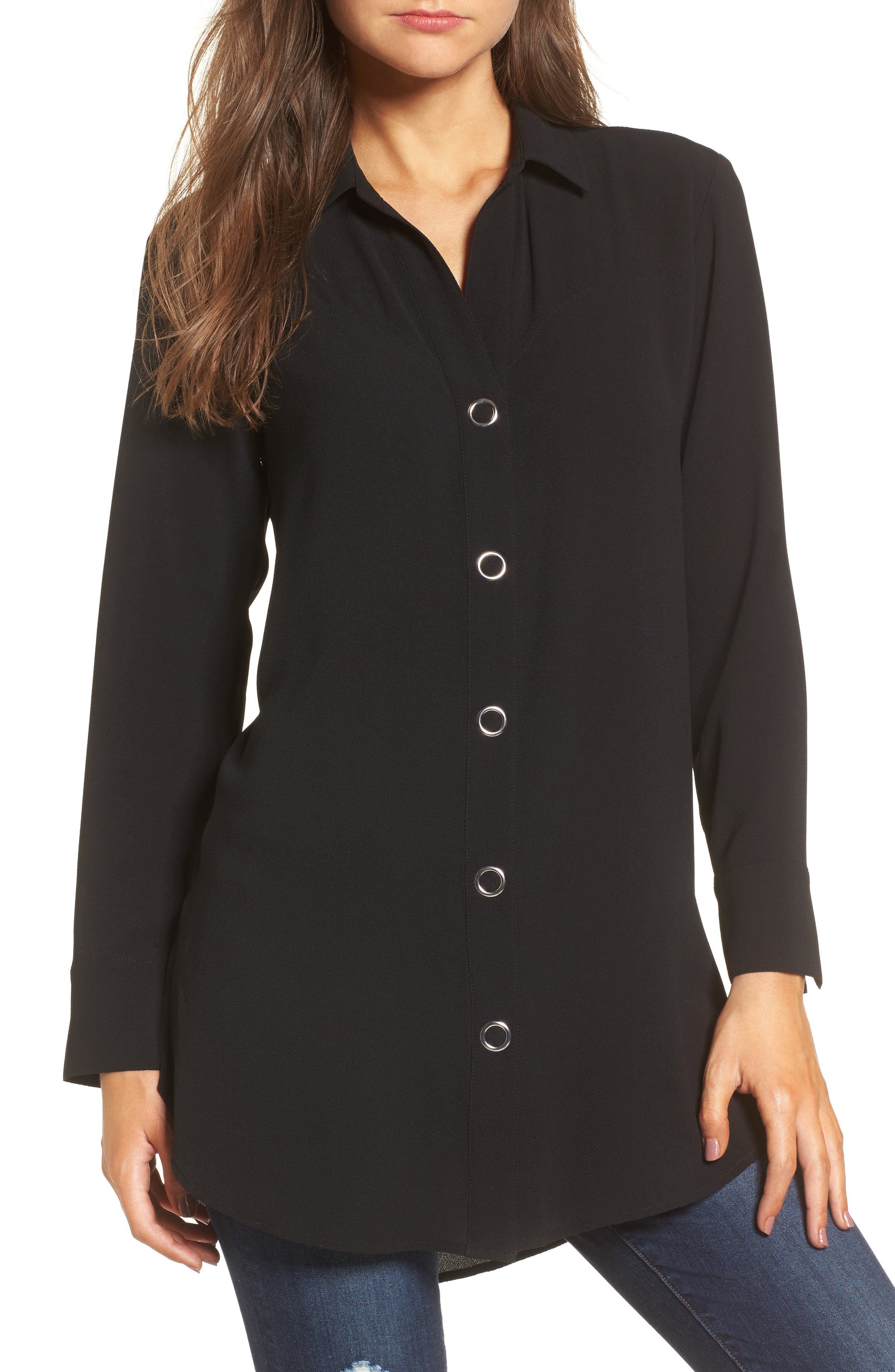 Alternate Image 1 Selected - Leith Snap Front Tunic