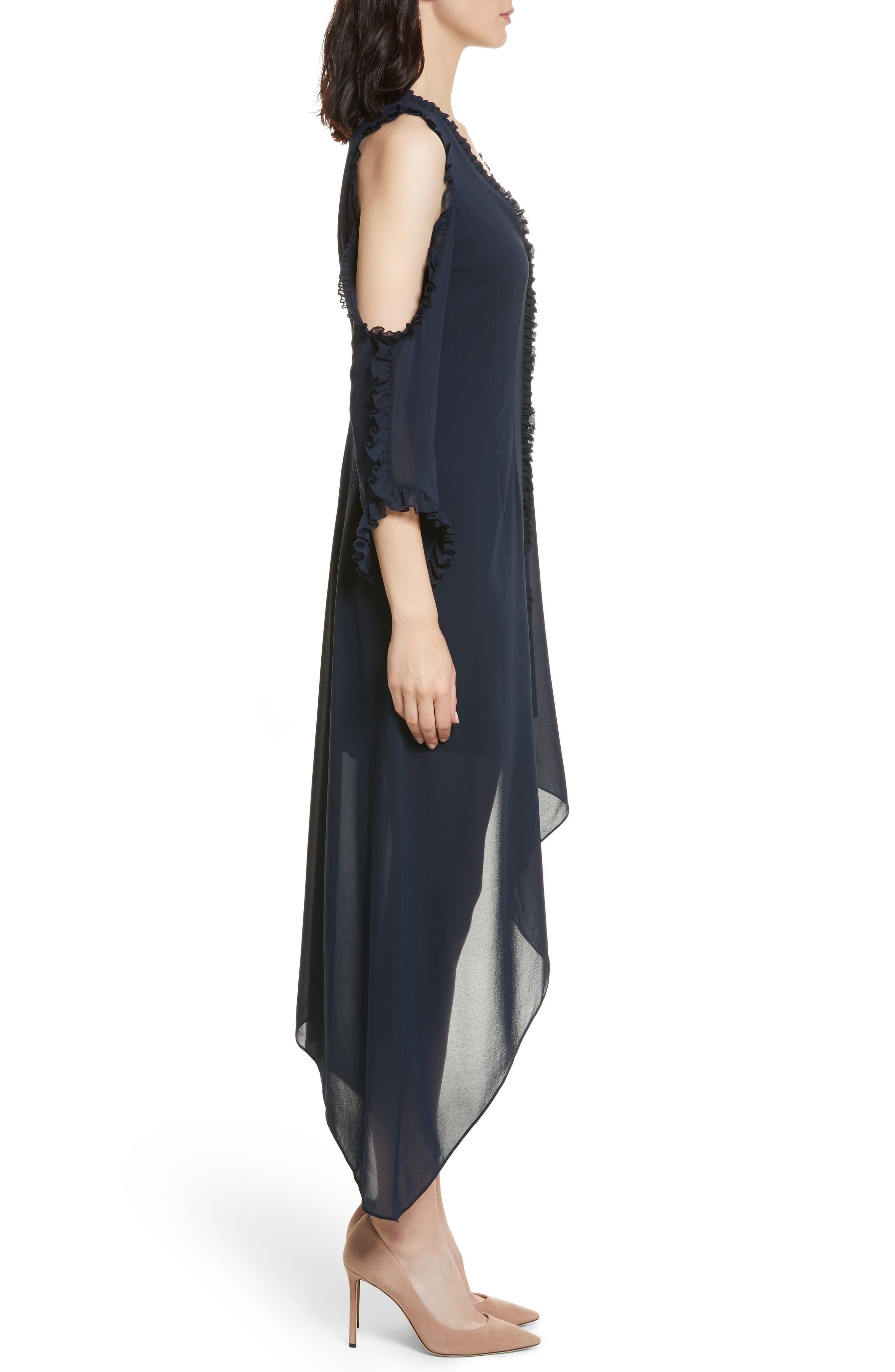 Alternate Image 3  - Alice + Olivia Claudie Ruffle Button-Down Maxi Dress