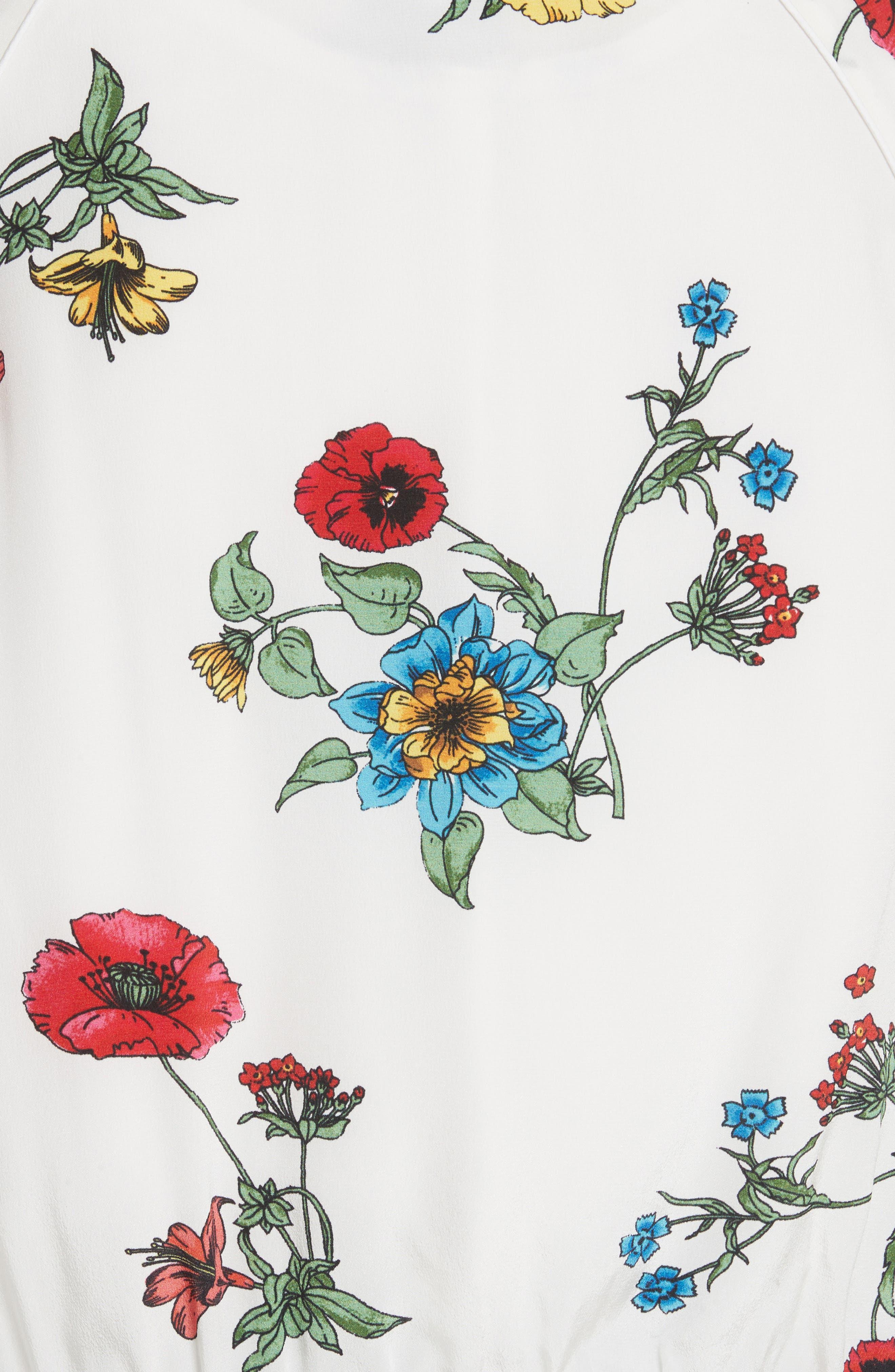 Avariella Silk Bomber Jacket,                             Alternate thumbnail 5, color,                             Porcelain