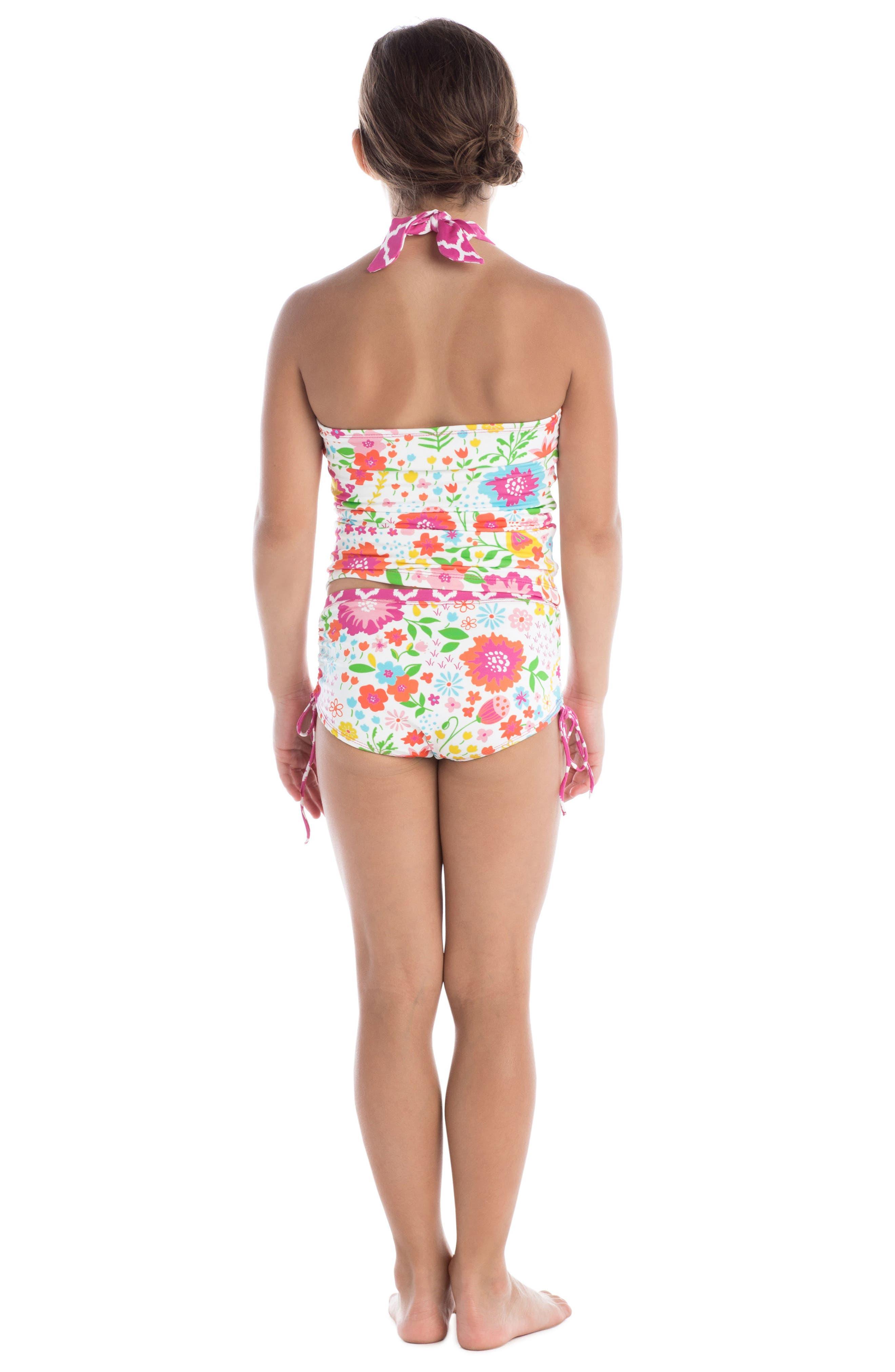 Alternate Image 3  - Masalababy English Garden Two-Piece Tankini Swimsuit (Toddler Girls)