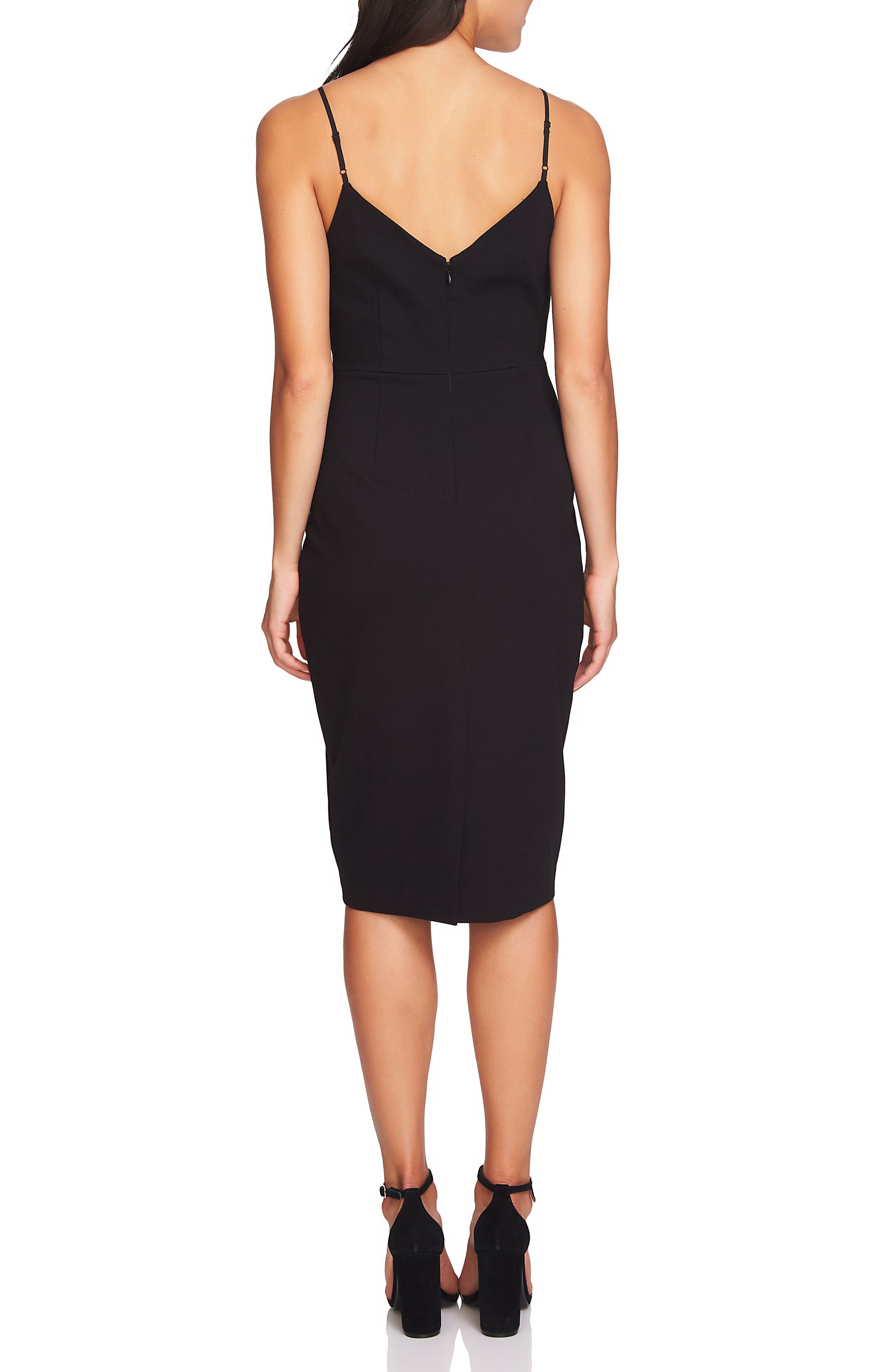 Slip Dress,                             Alternate thumbnail 2, color,                             Rich Black