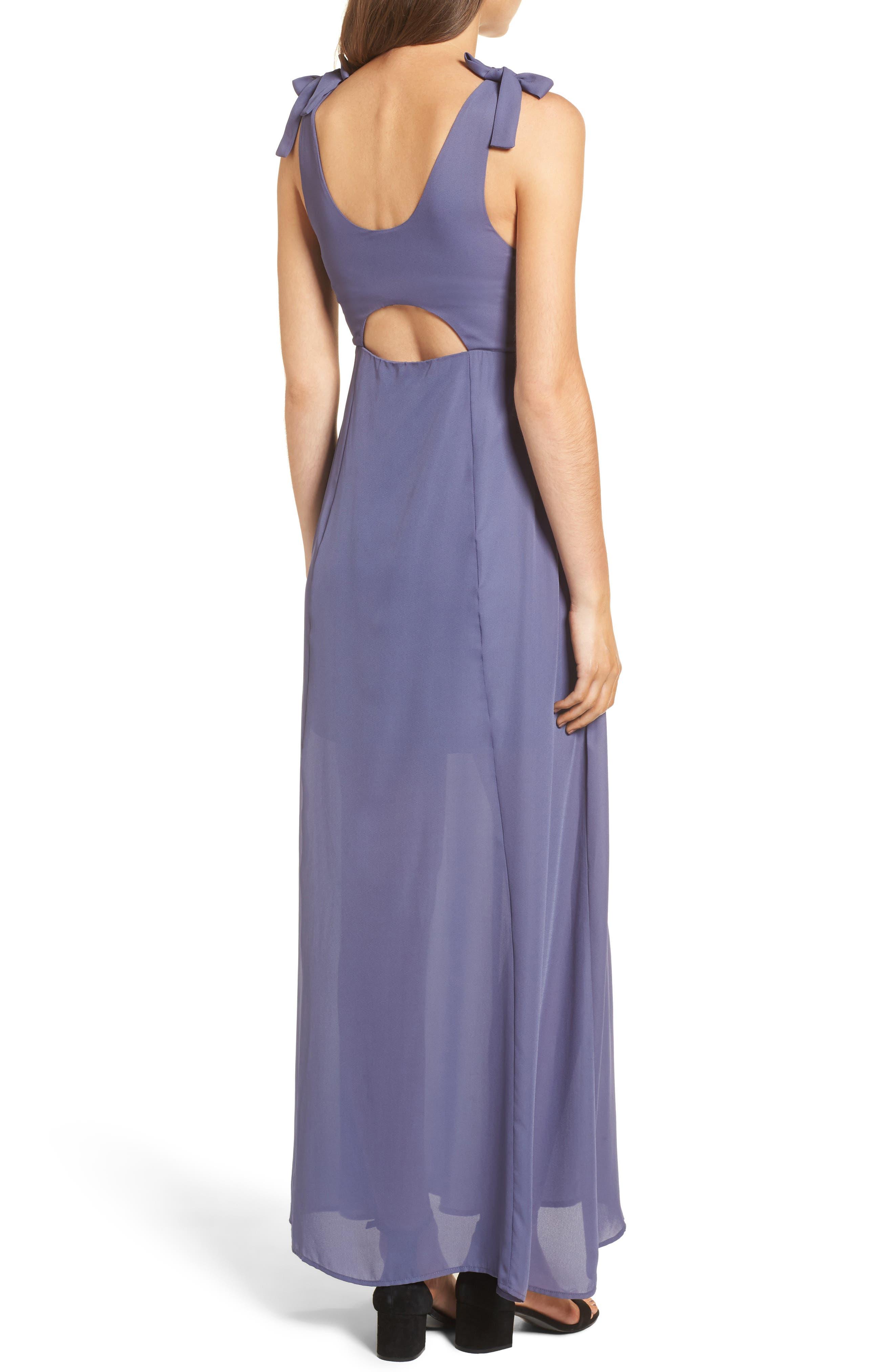 Tie Strap Maxi Dress,                             Alternate thumbnail 2, color,                             Slate