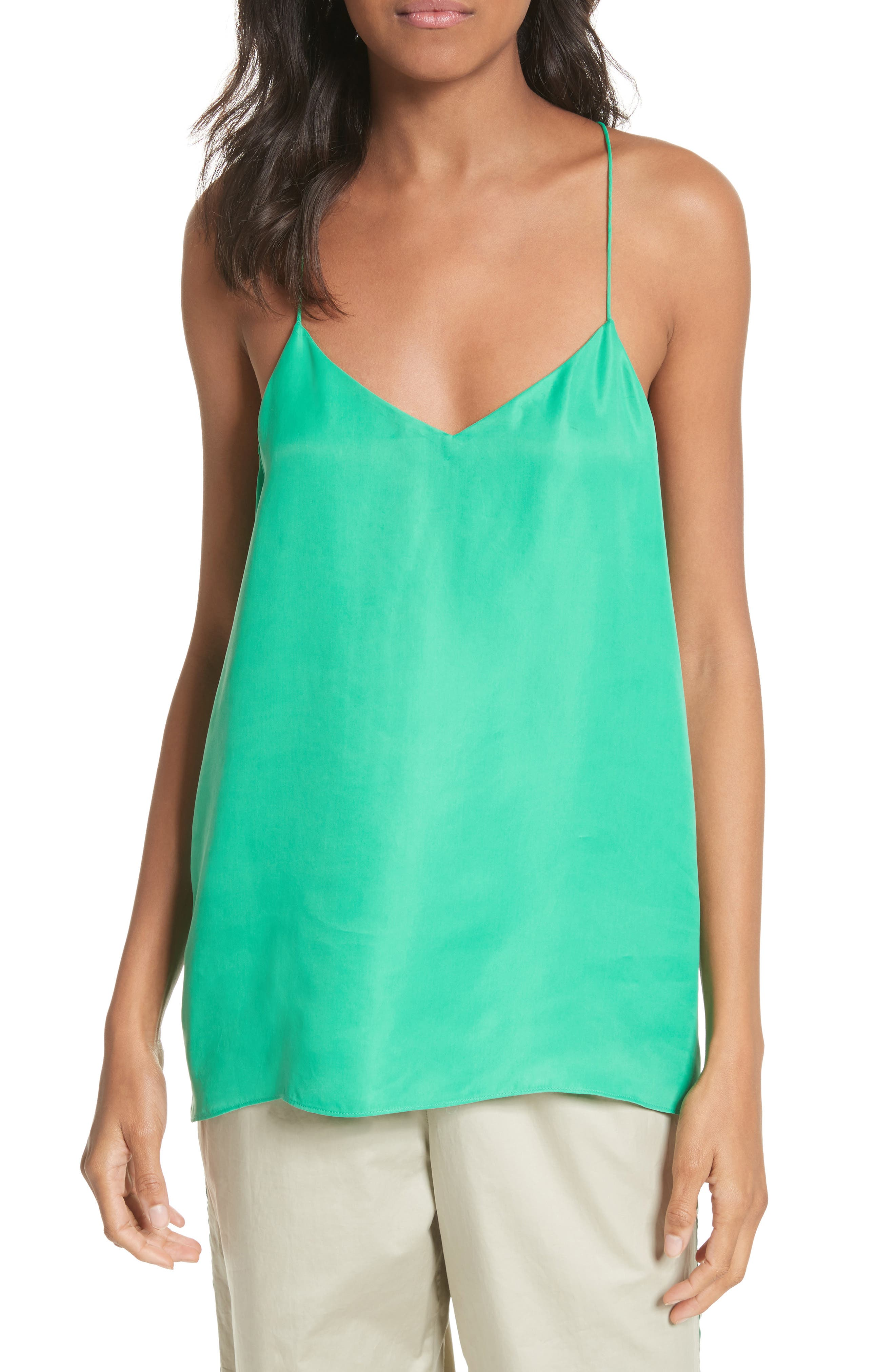 Racerback Camisole,                         Main,                         color, Green