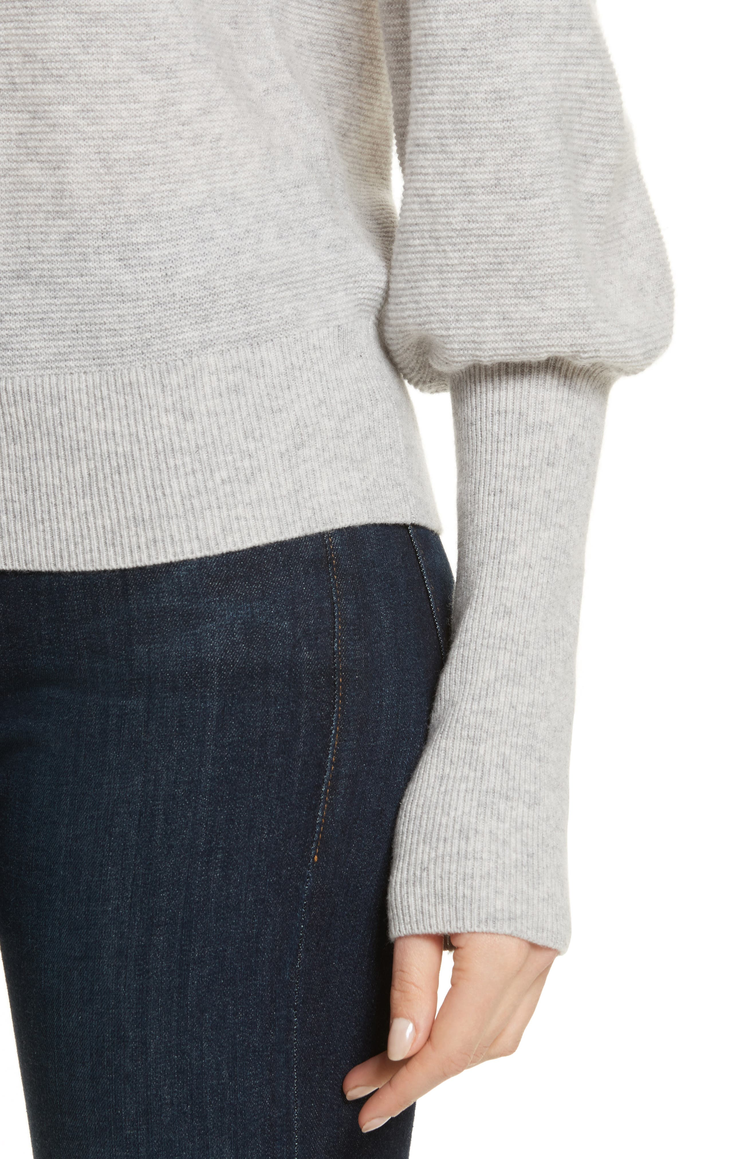 Noely Wool and Cashmere Sweater,                             Alternate thumbnail 4, color,                             Light Heather Grey