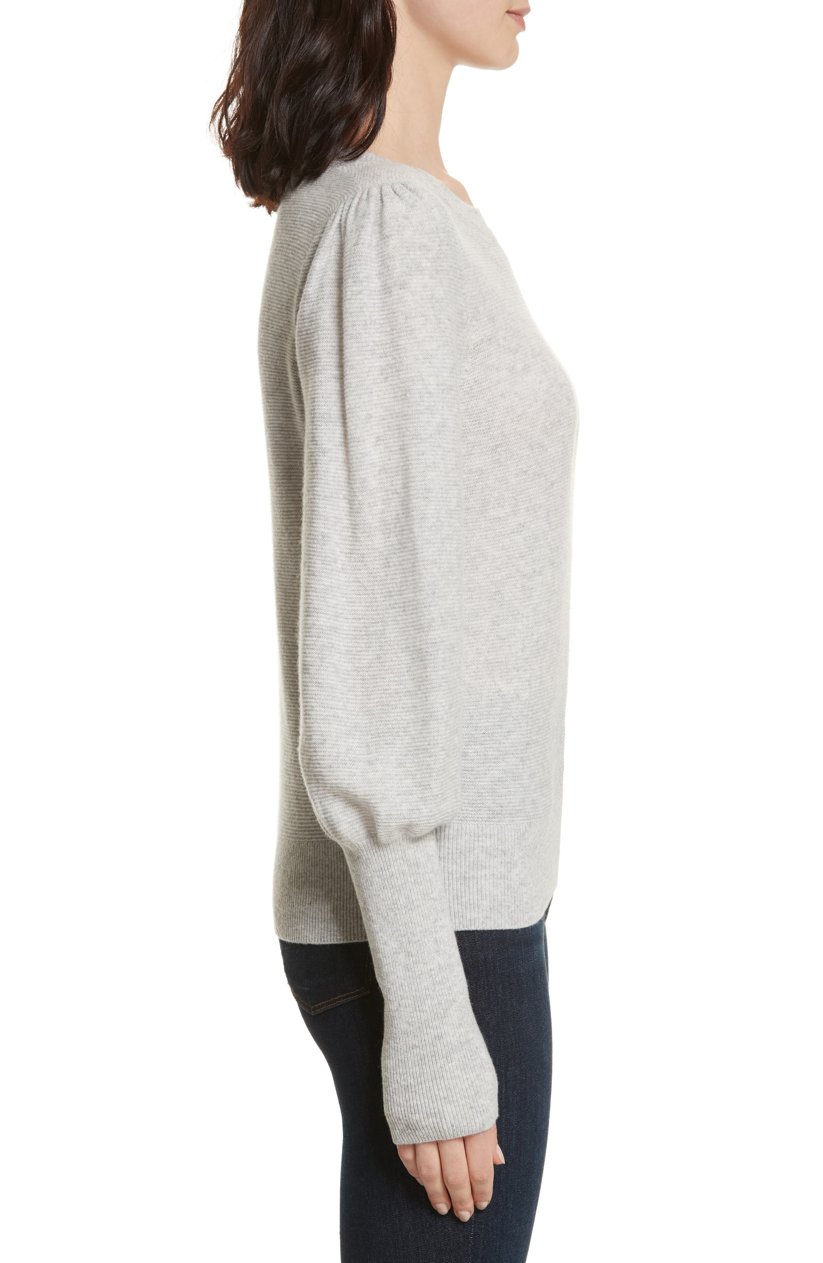 Noely Wool and Cashmere Sweater,                             Alternate thumbnail 3, color,                             Light Heather Grey