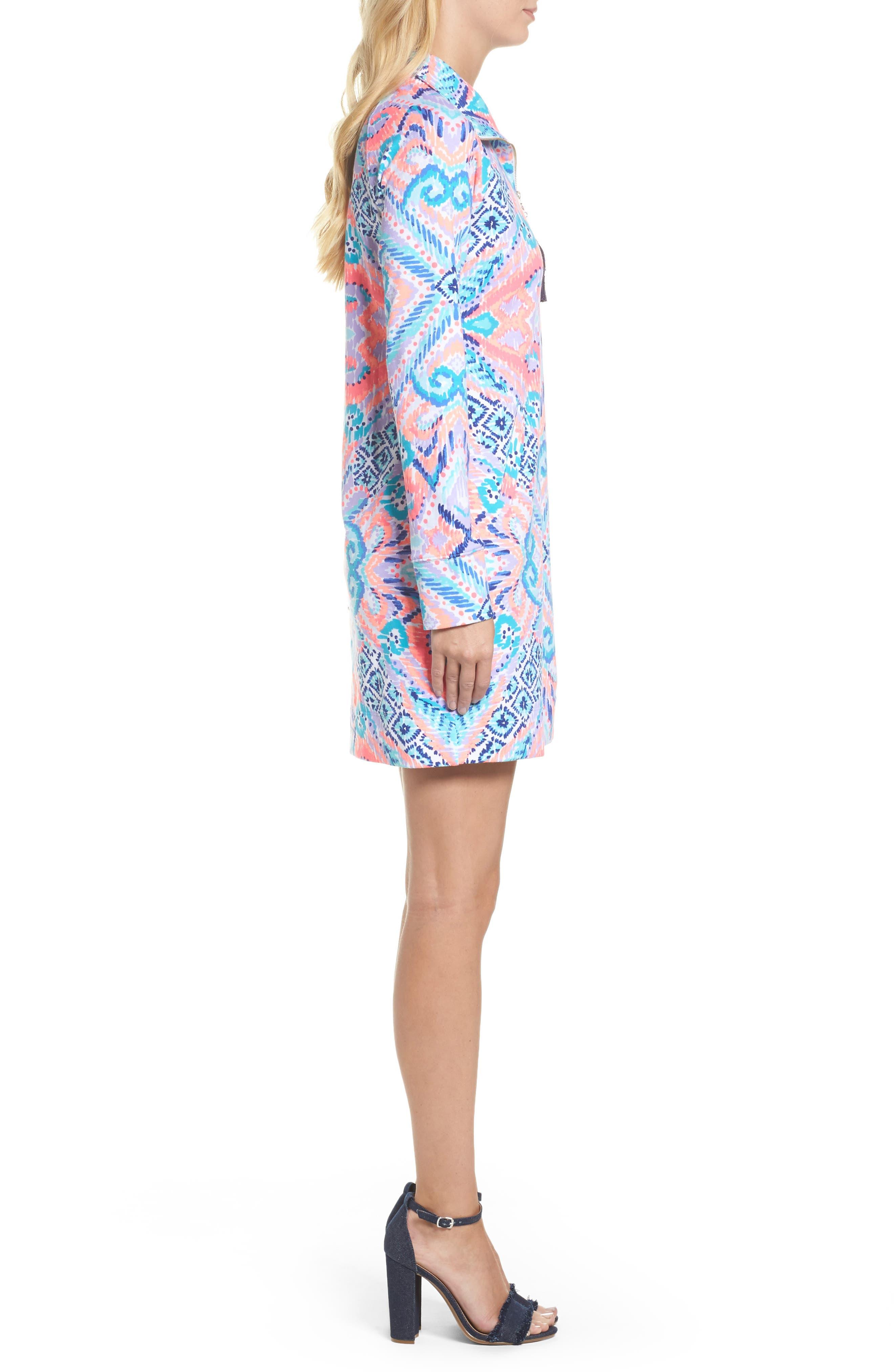 Skipper UPF 50+ Dress,                             Alternate thumbnail 3, color,                             Multi Solar Opposite