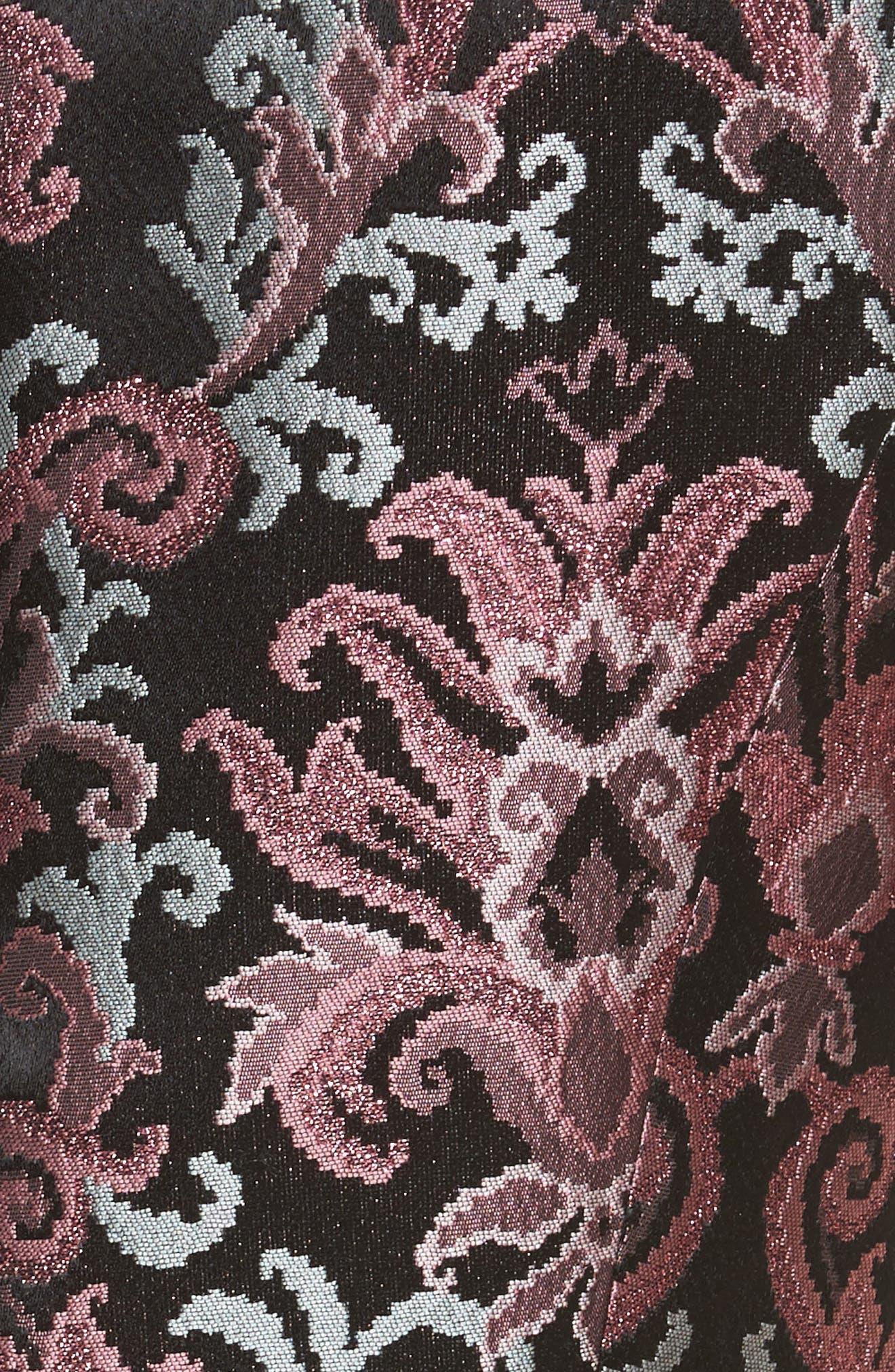 tapestry jacquard dress,                             Alternate thumbnail 5, color,                             Multi