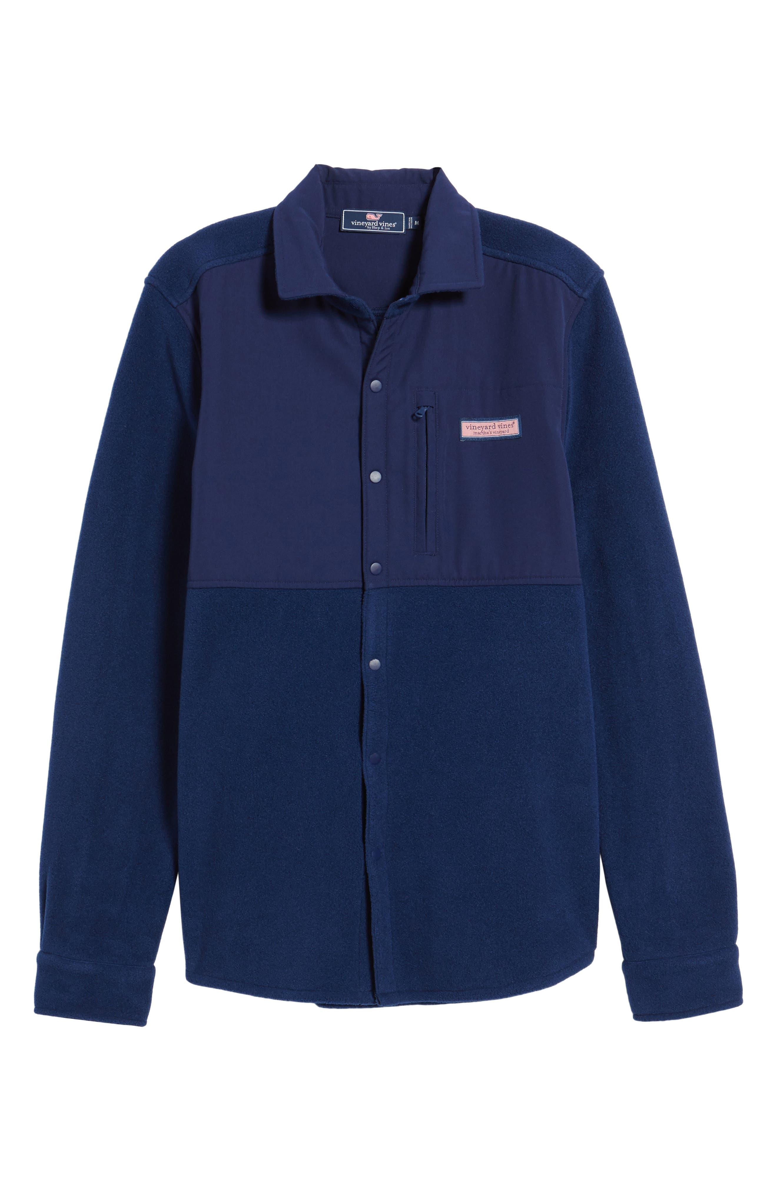 Alternate Image 6  - vineyard vines Snap Front Fleece Jacket