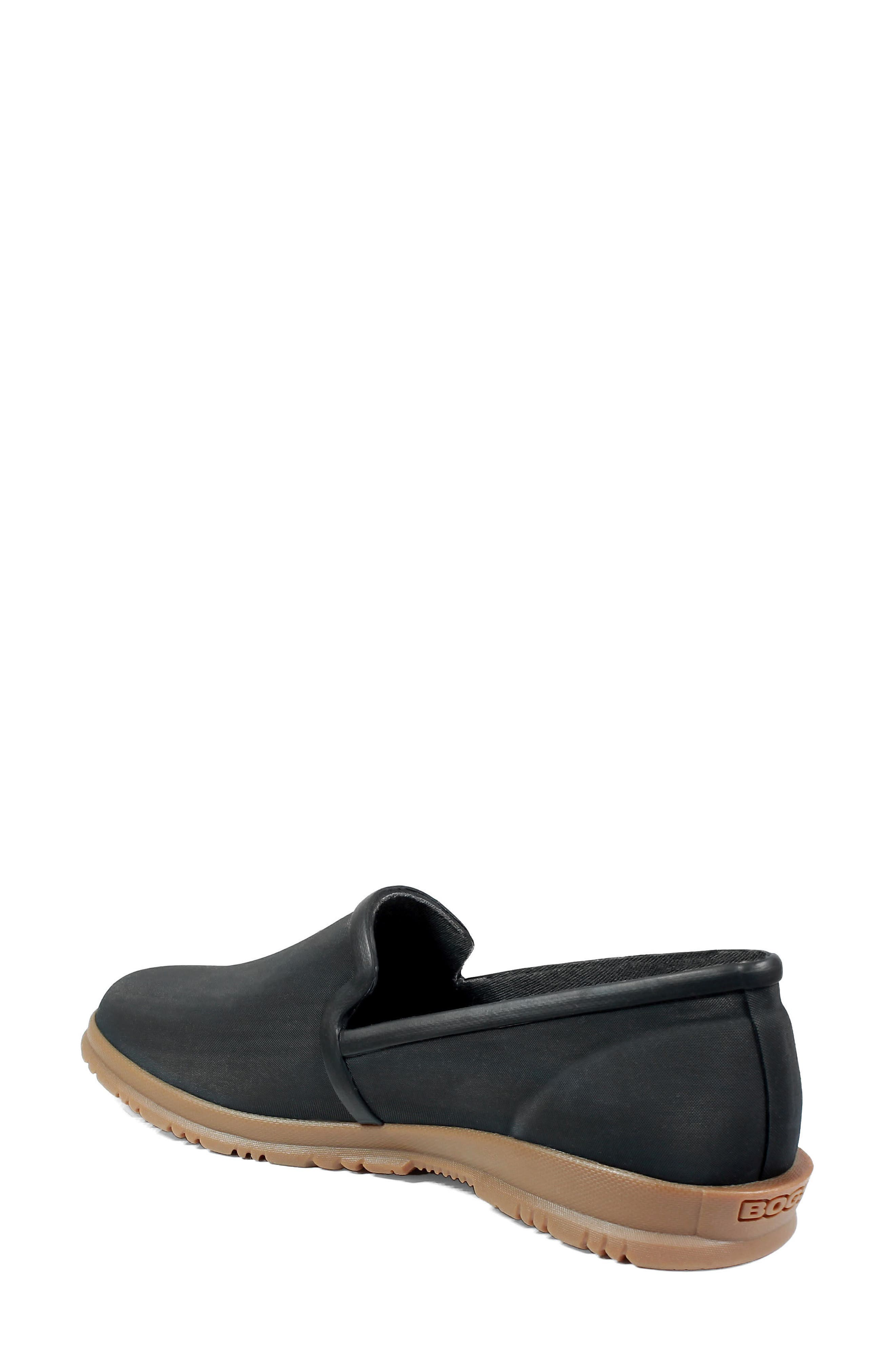 Sweetpea Waterproof Slip-On Sneaker,                             Alternate thumbnail 2, color,                             Black Fabric