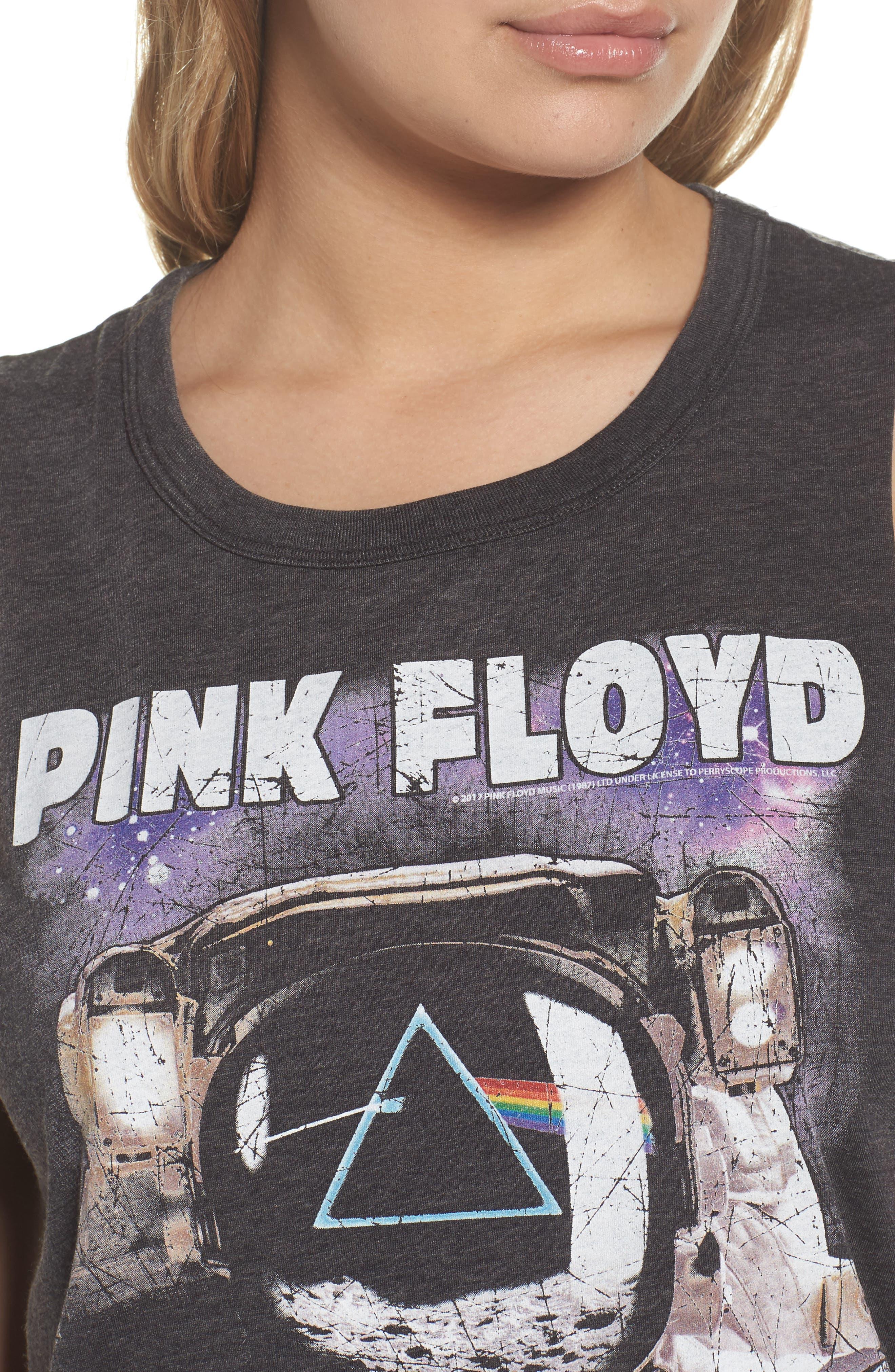 Pink Floyd High/Low Muscle Tank,                             Alternate thumbnail 5, color,                             Vintage Black