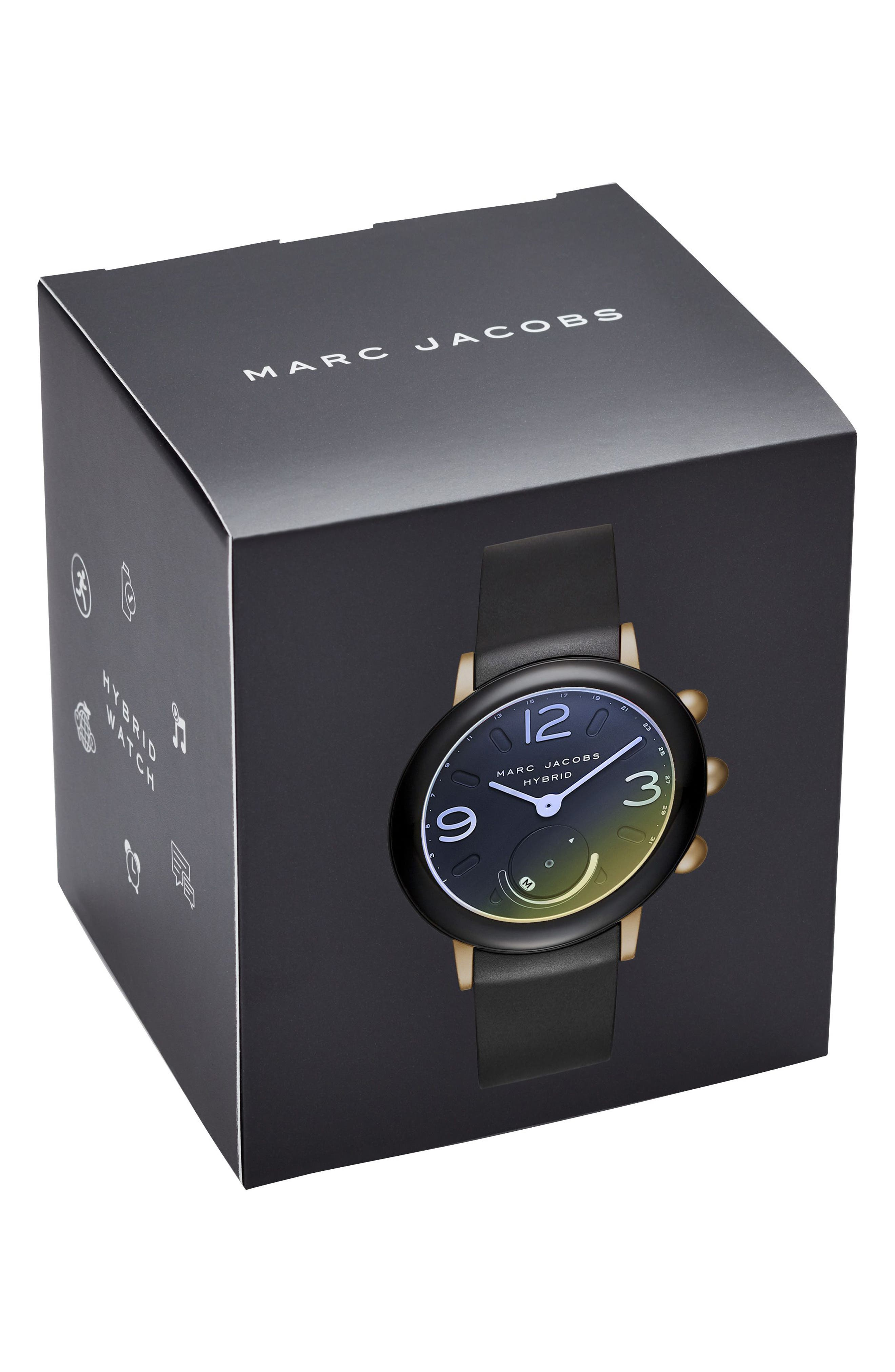 Alternate Image 4  - Marc Jacobs Riley Hybrid Rubber Strap Watch, 42mm