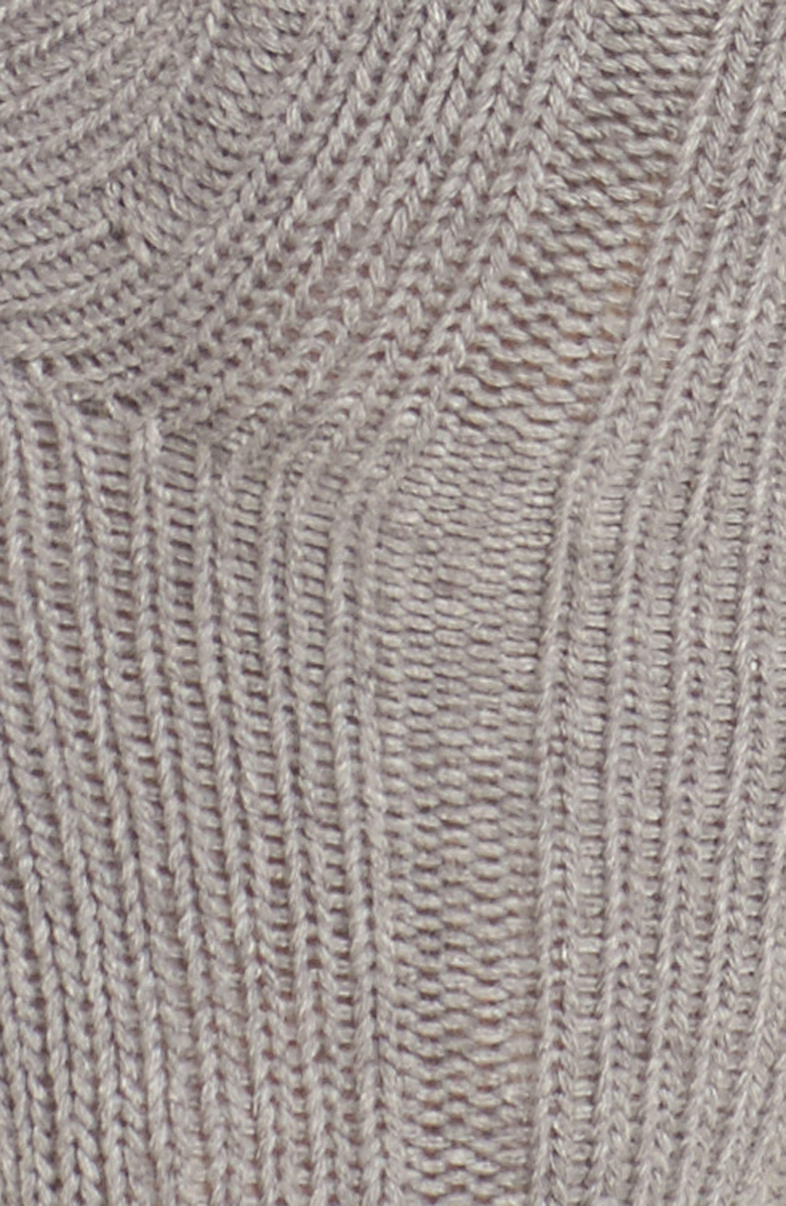 Variegated Rib Crew Socks,                             Alternate thumbnail 2, color,                             Grey