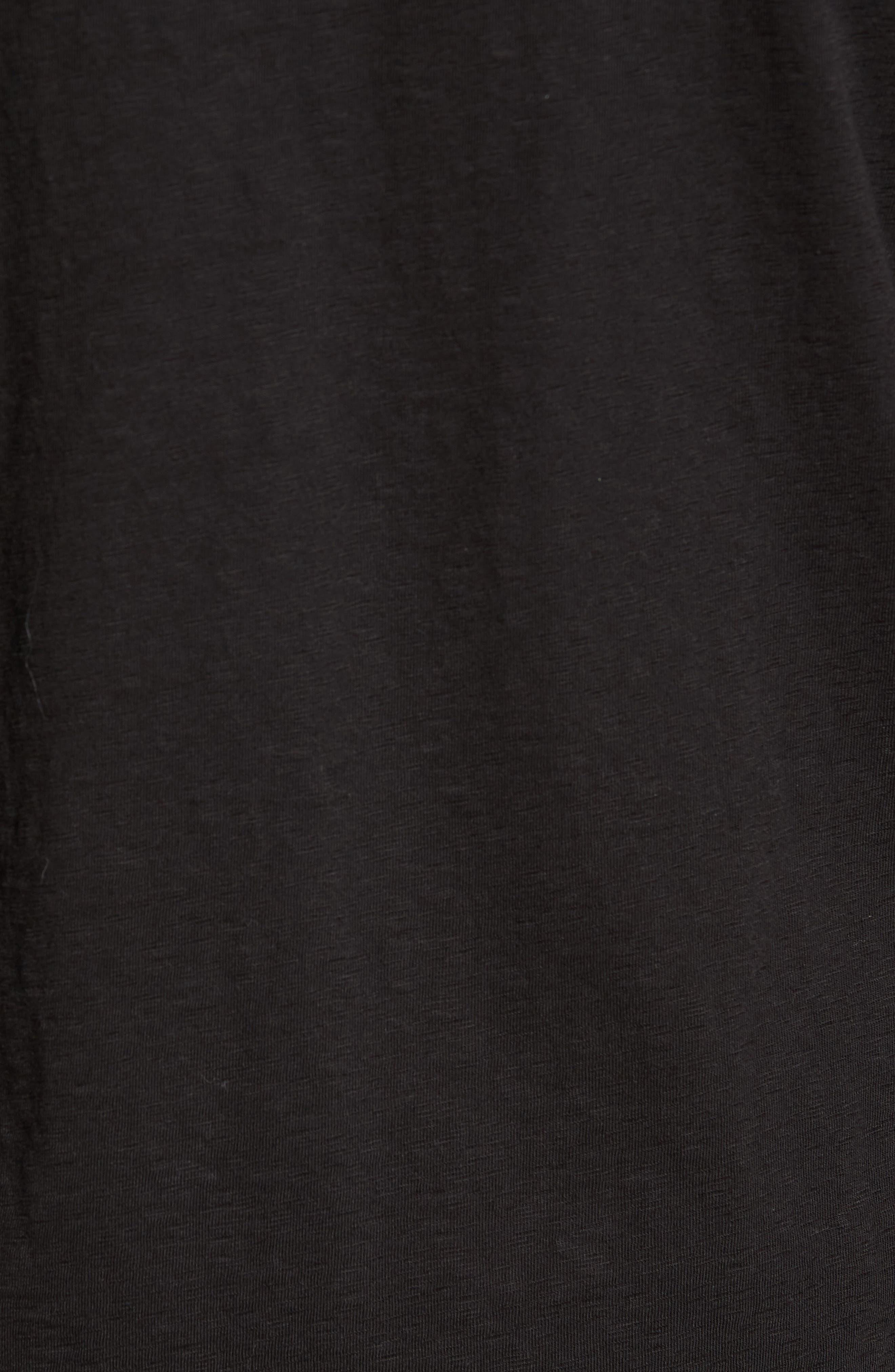 L'Hiver Regular Fit Long Sleeve T-shirt,                             Alternate thumbnail 5, color,                             Black/ Clay